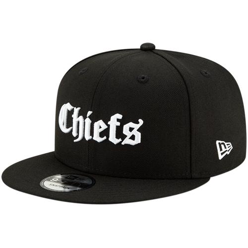 Kansas City Chiefs New Era Gothic Script 9FIFTY Adjustable Snapback Hat - Black