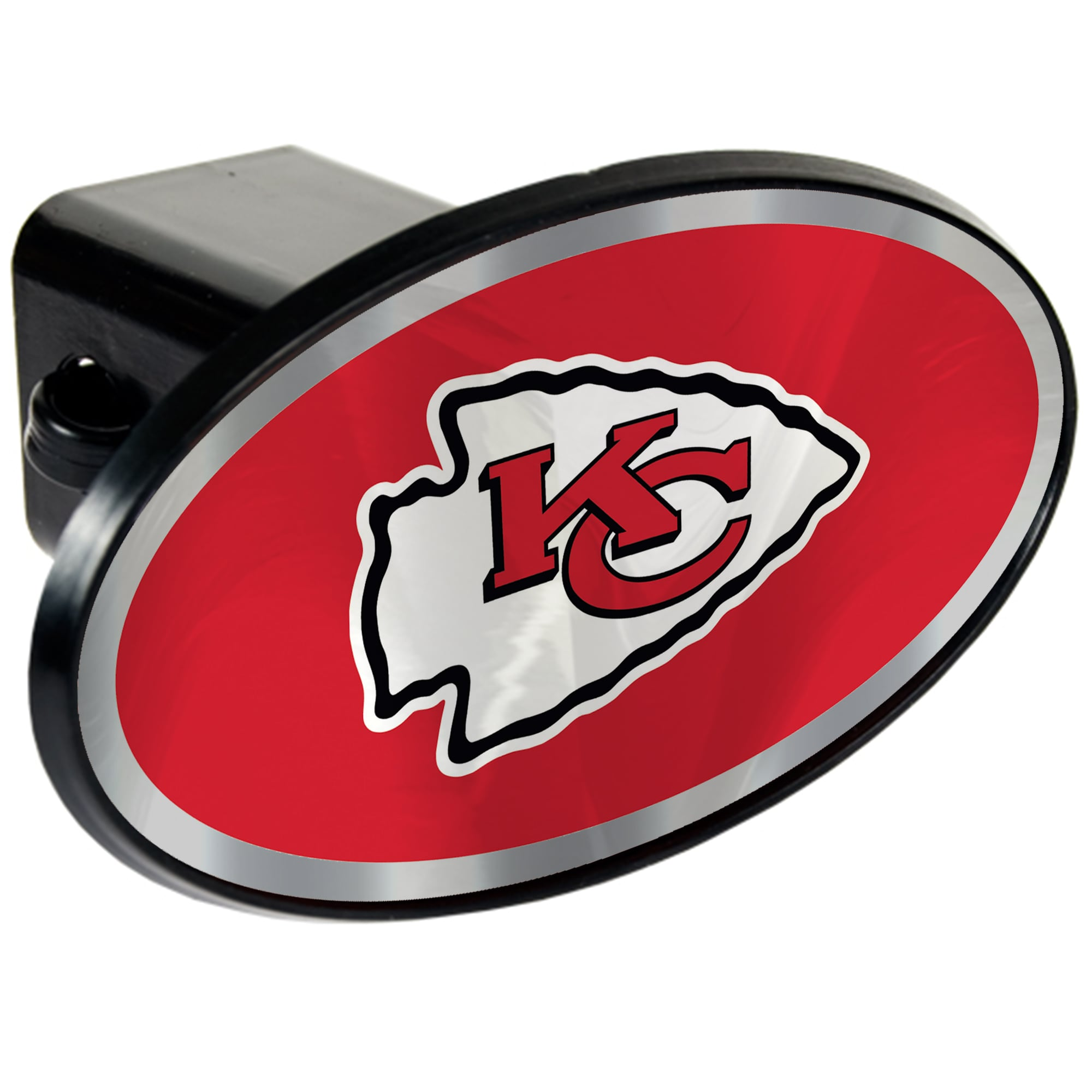 Kansas City Chiefs Oval Car Hitch Cover