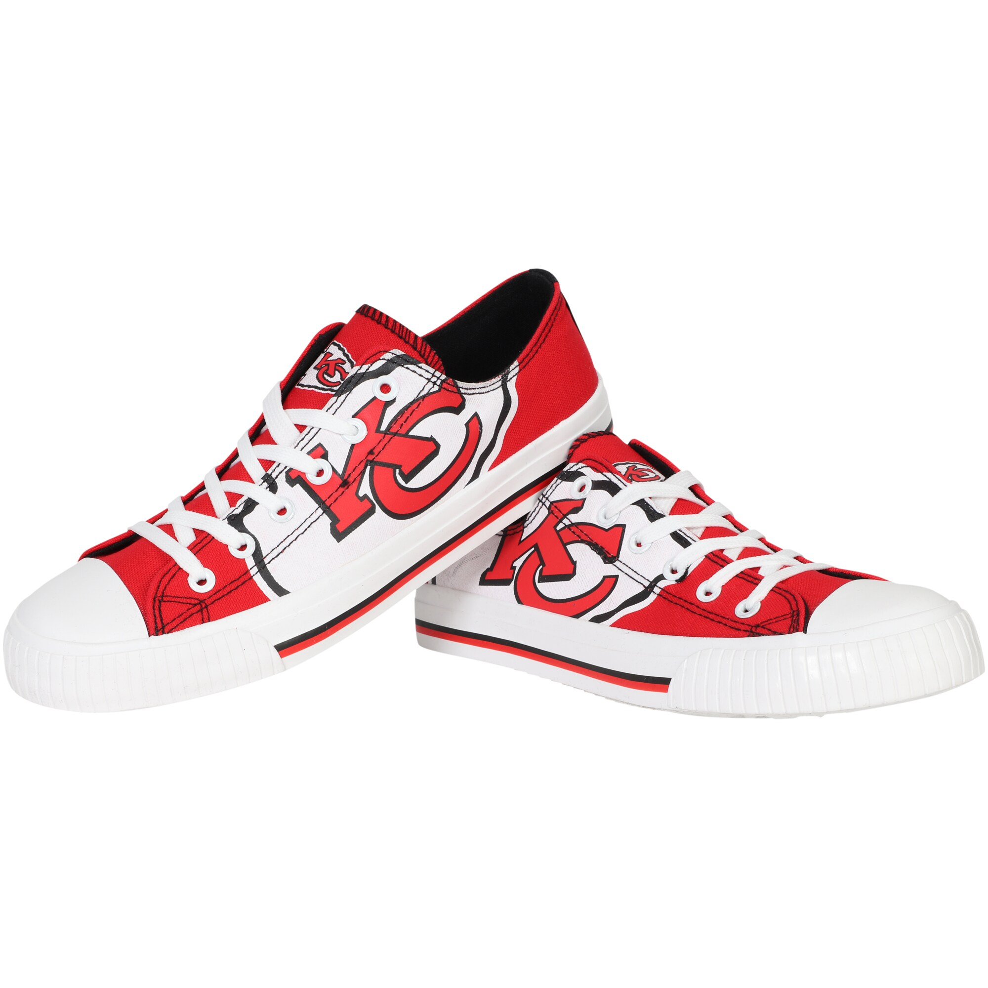 Kansas City Chiefs Big Logo Low Top Sneakers