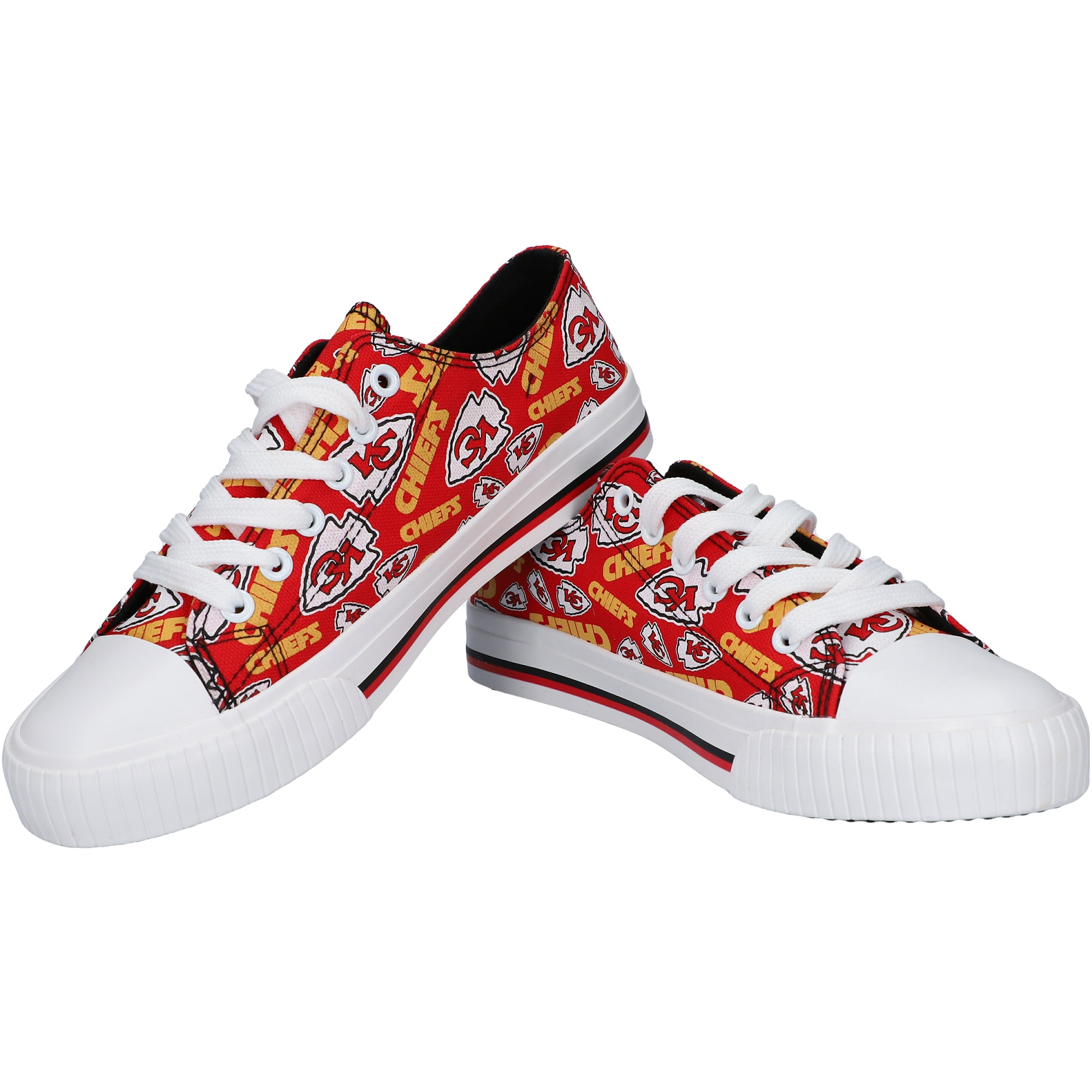 Kansas City Chiefs Women's Repeat Print Low Top Sneakers
