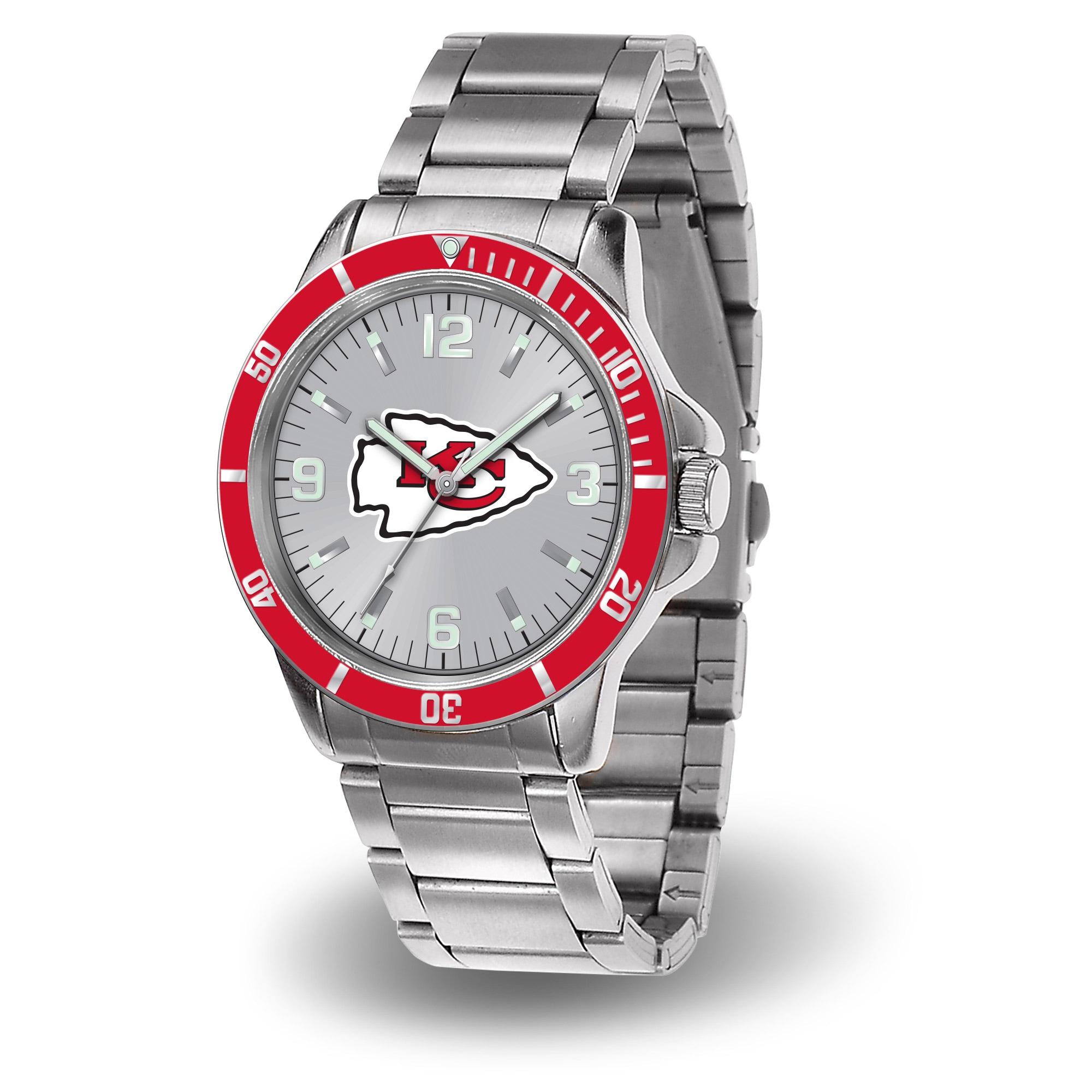 Kansas City Chiefs Sparo Key Bracelet Quartz Watch - Silver
