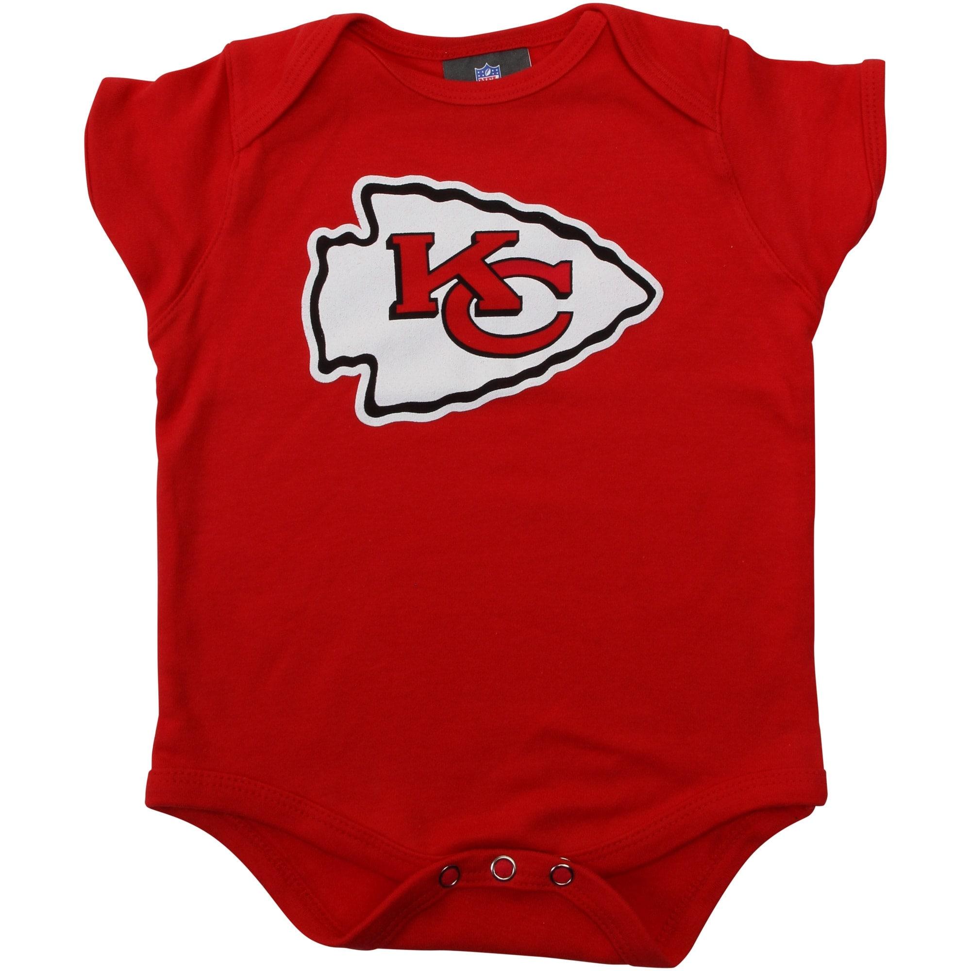 Kansas City Chiefs Newborn & Infant Team Logo Bodysuit - Red