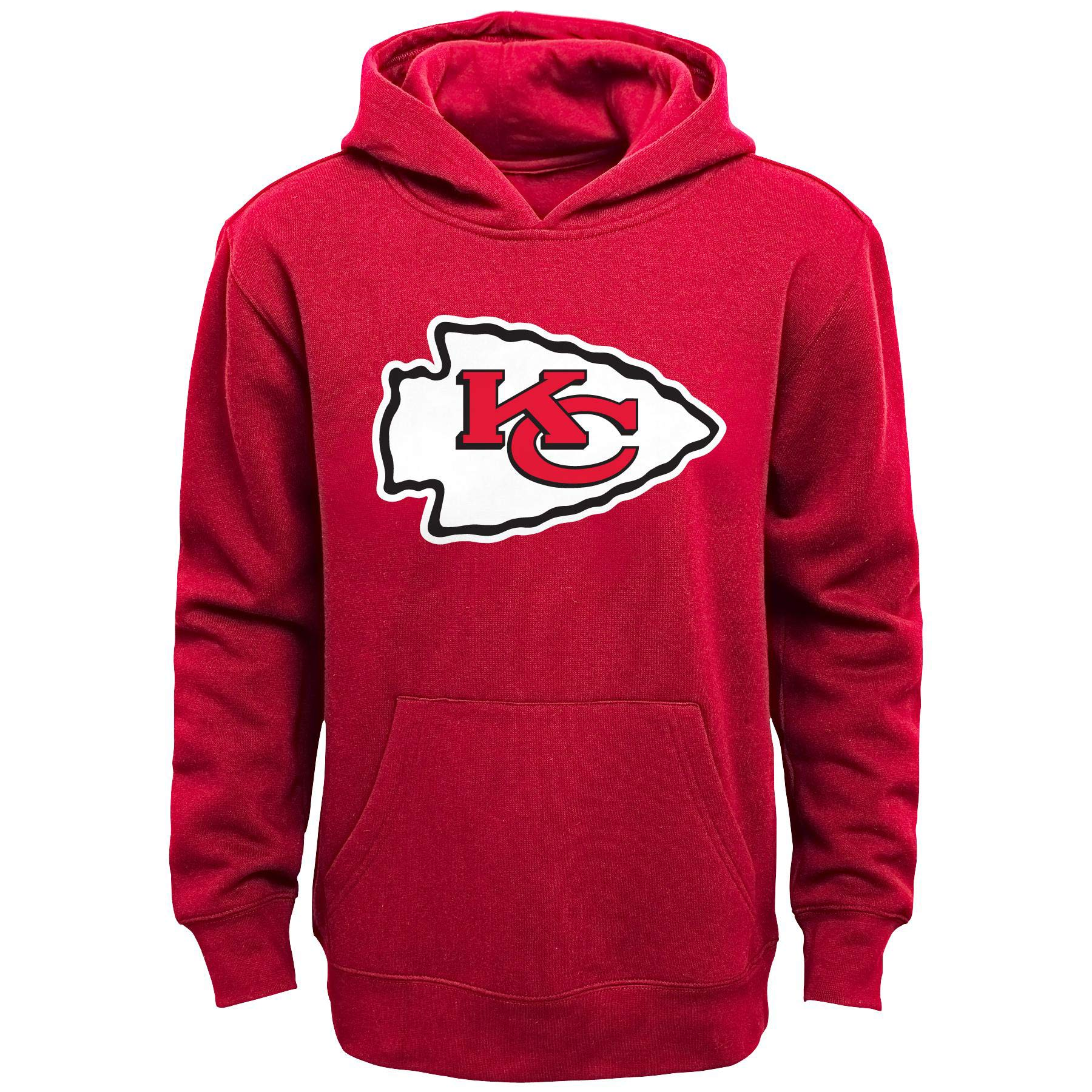 Kansas City Chiefs Youth Team Logo Pullover Hoodie - Red