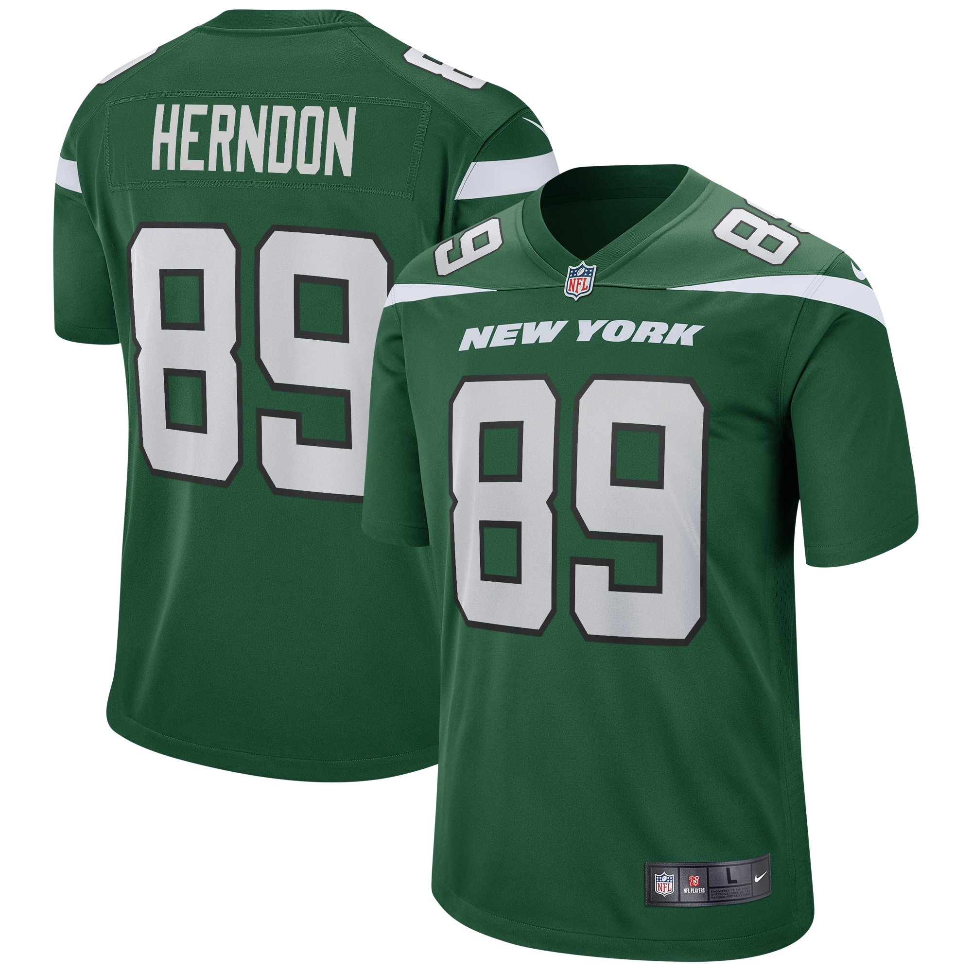 Chris Herndon New York Jets Nike Game Jersey - Gotham Green