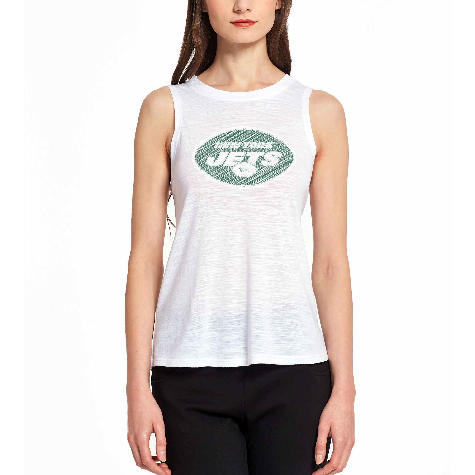 New York Jets Concepts Sport Women's Infuse Knit Tank Top - White
