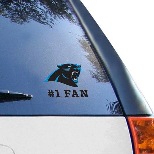 """Carolina Panthers WinCraft #1 Fan 3"""" X 4"""" Multi-use Decal"""