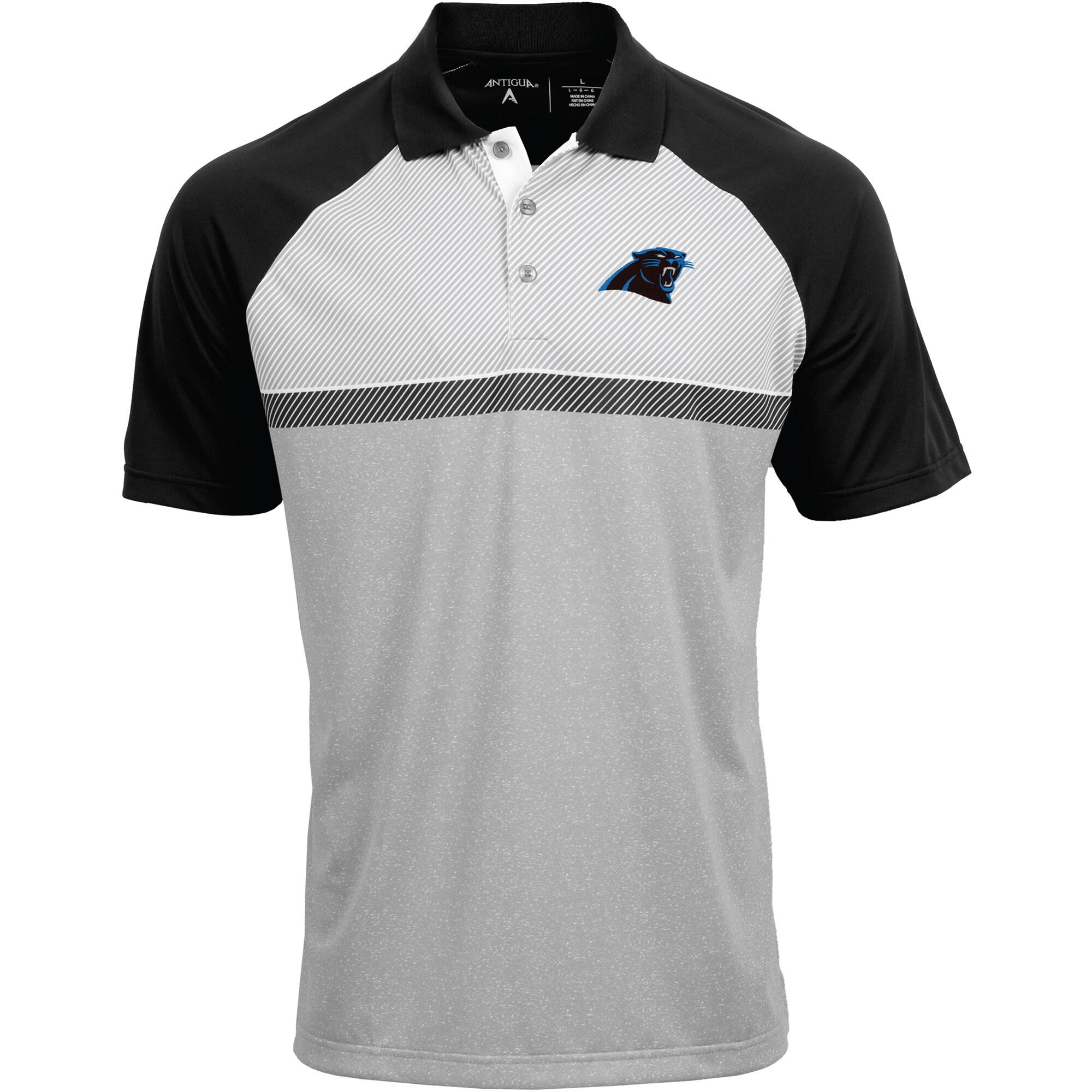 Carolina Panthers Antigua Momentum Polo - Gray/Black