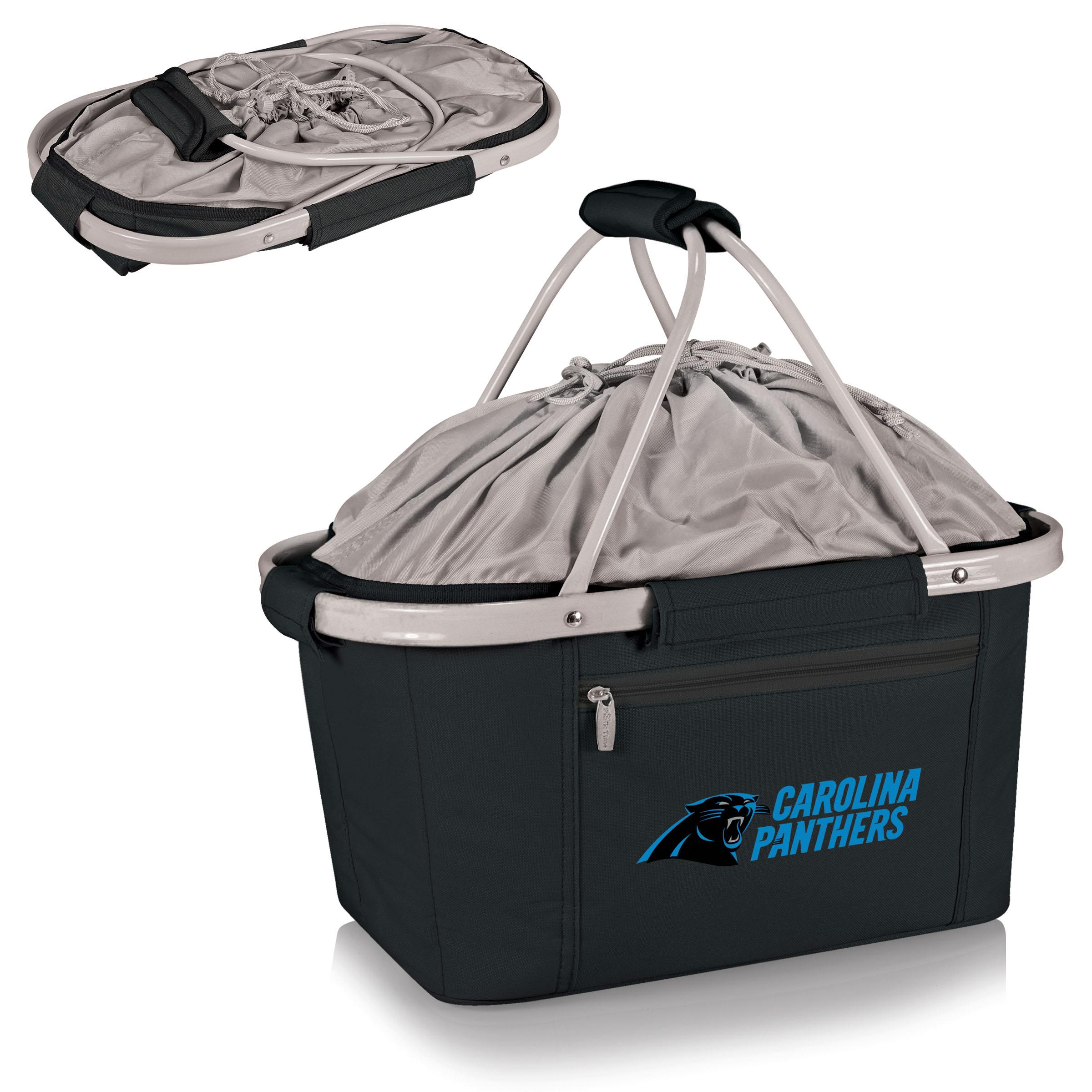 Carolina Panthers Metro Basket Collapsible Tote - Black