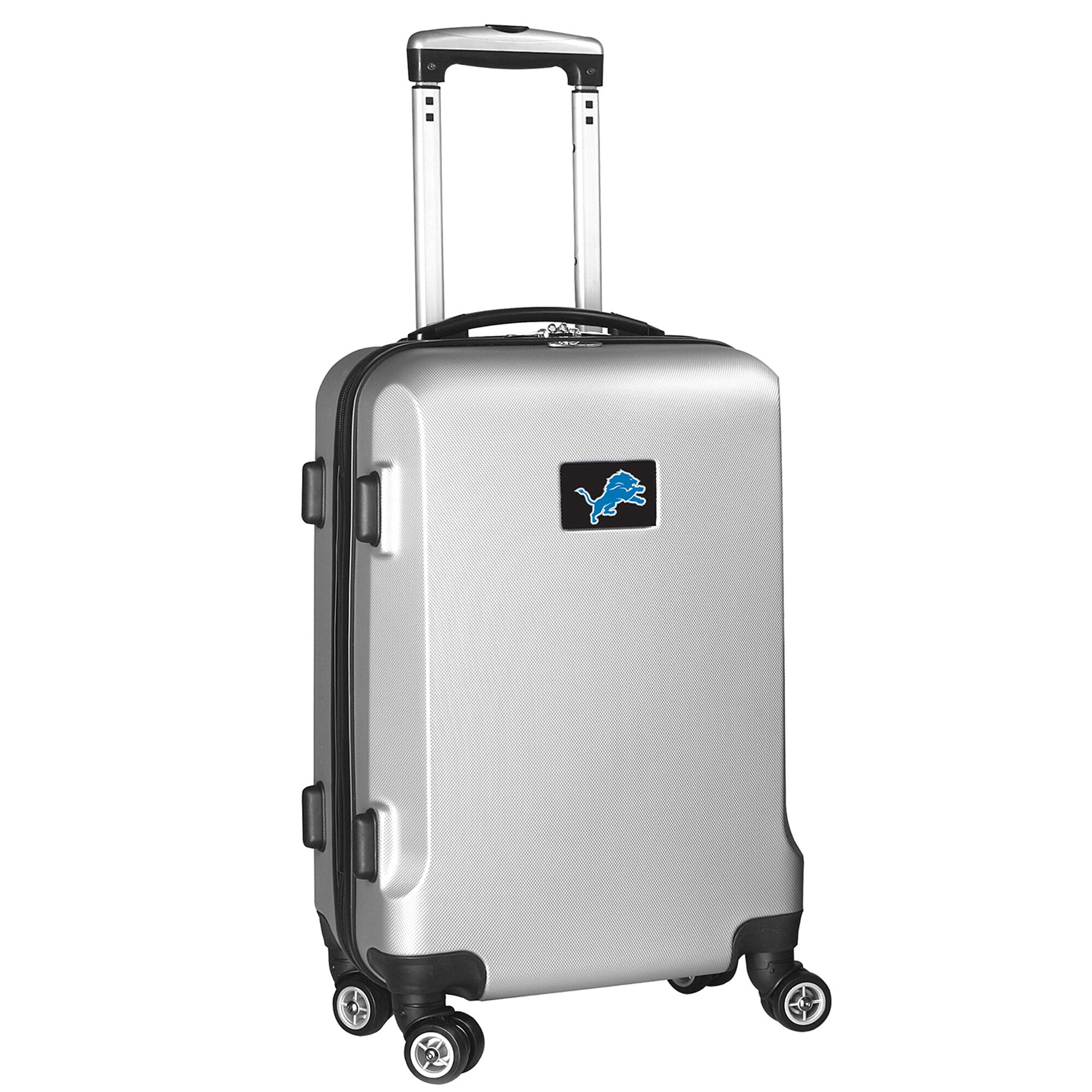 """Detroit Lions 21"""" Hard Case 2-Tone Spinner Carry-On Luggage - Silver"""