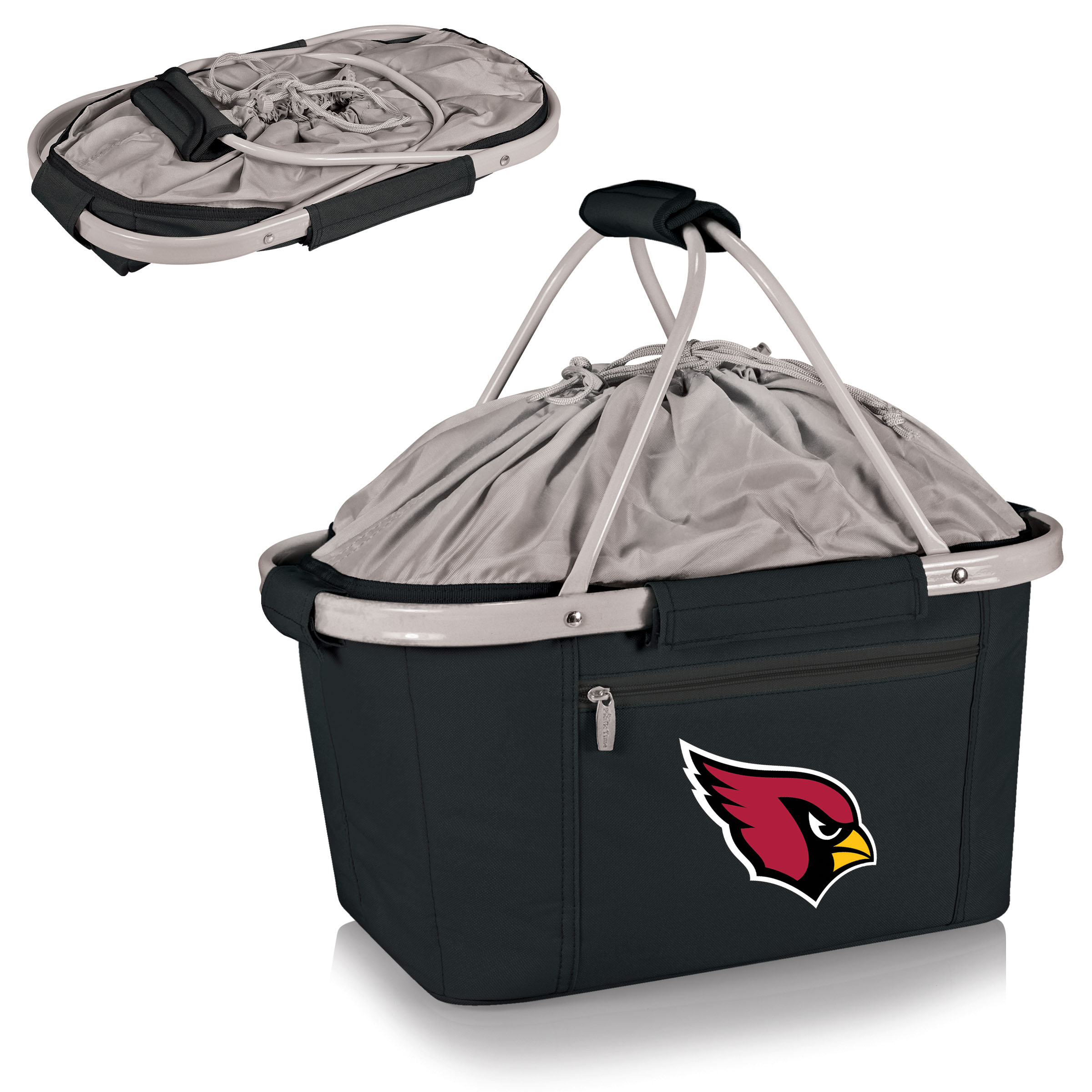 Arizona Cardinals Metro Basket Collapsible Tote - Black