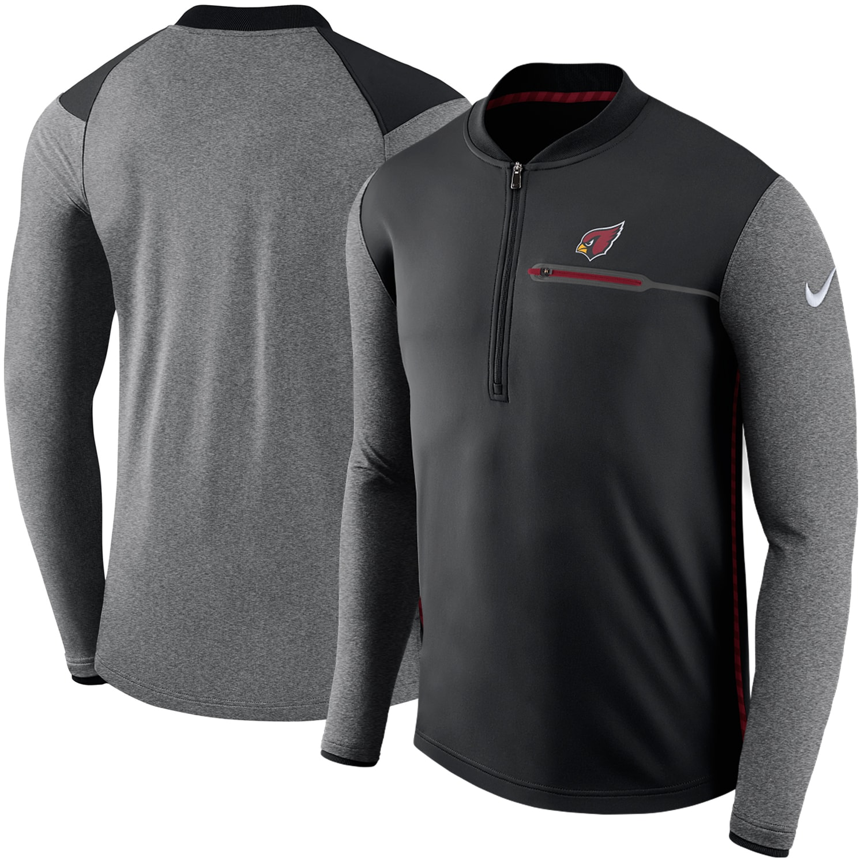 Arizona Cardinals Nike Sideline Coaches Performance Half-Zip Pullover Jacket - Black