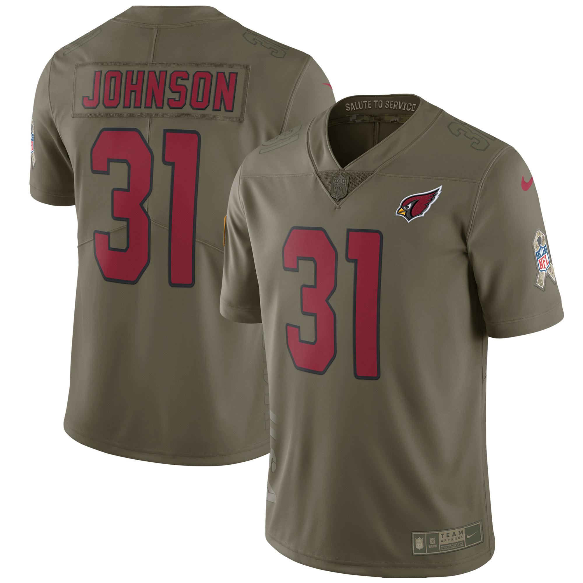 David Johnson Arizona Cardinals Nike Salute To Service Limited Jersey - Olive