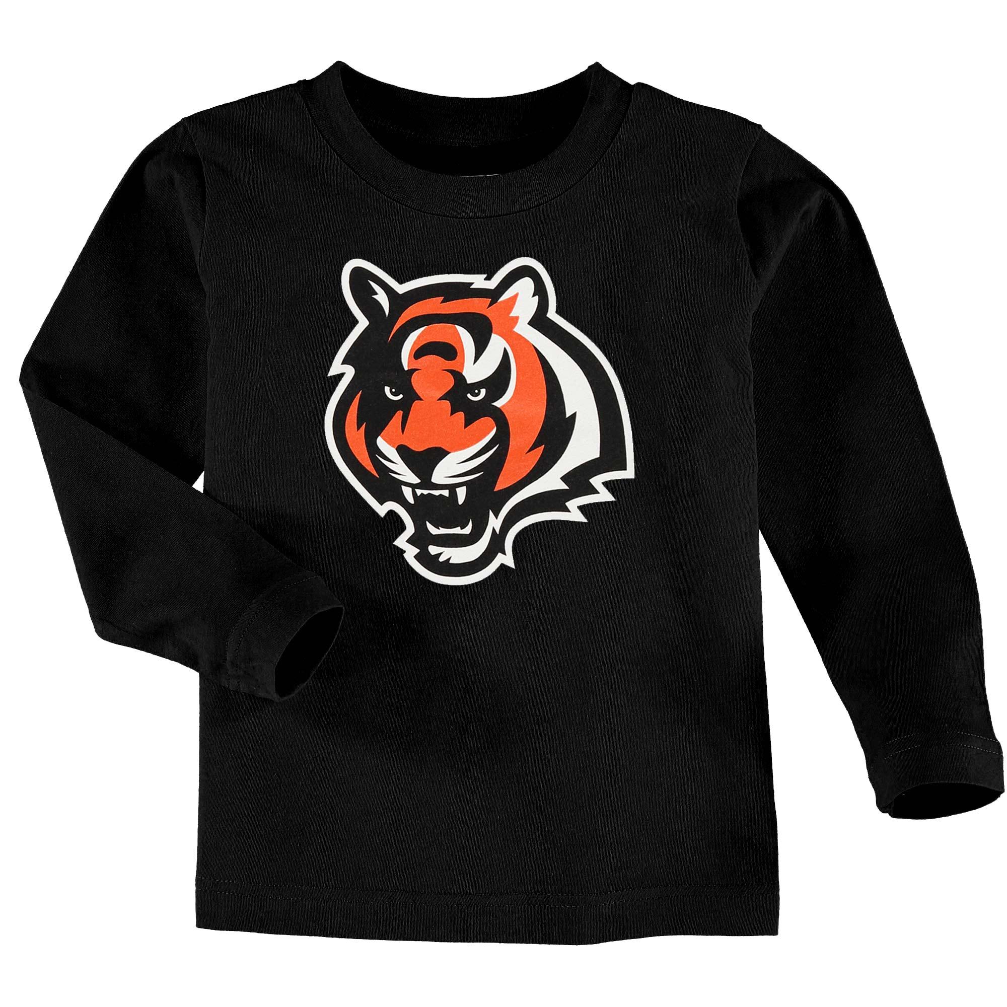 Cincinnati Bengals Toddler Team Logo Long Sleeve T-Shirt - Black