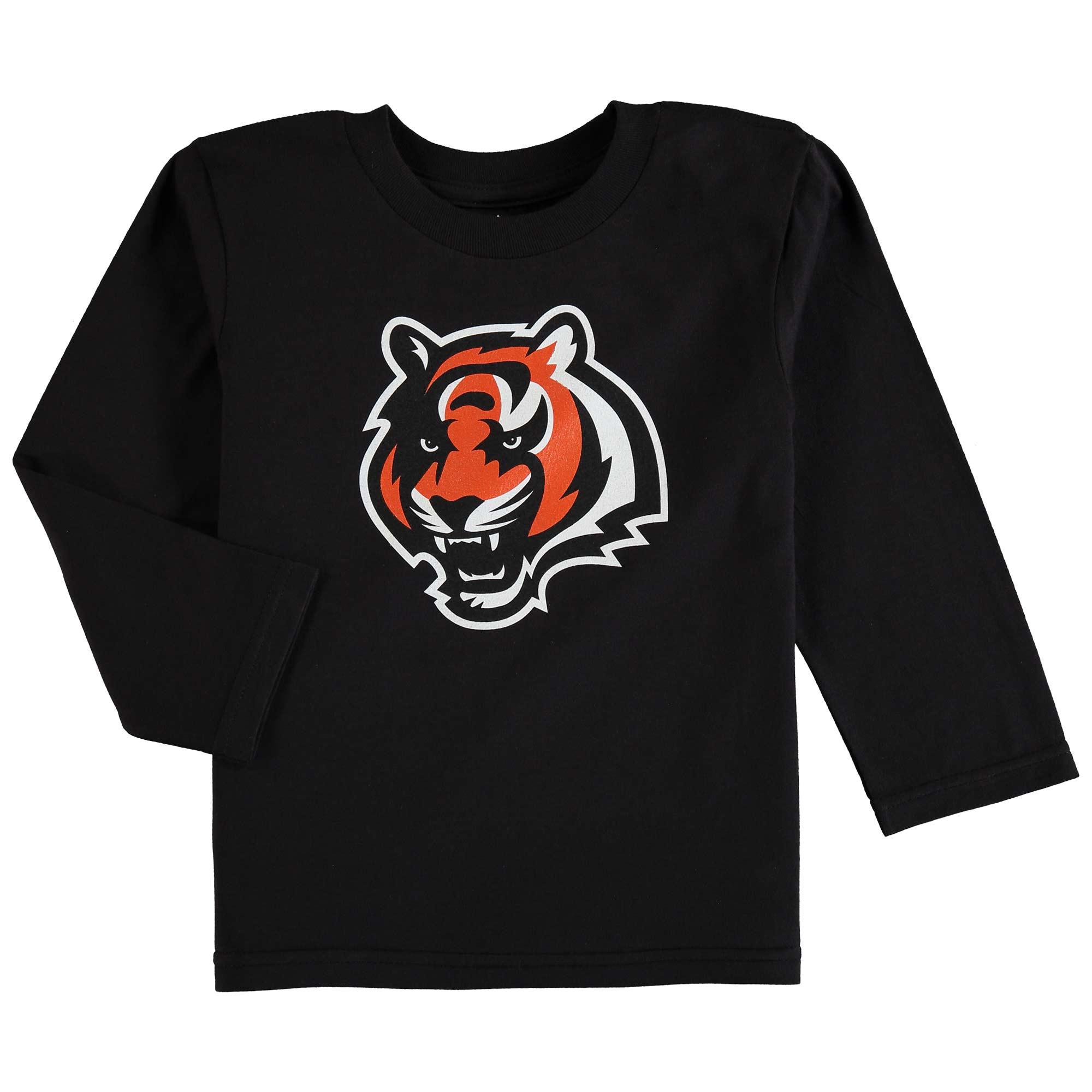 Cincinnati Bengals Preschool Team Logo Long Sleeve T-Shirt - Black