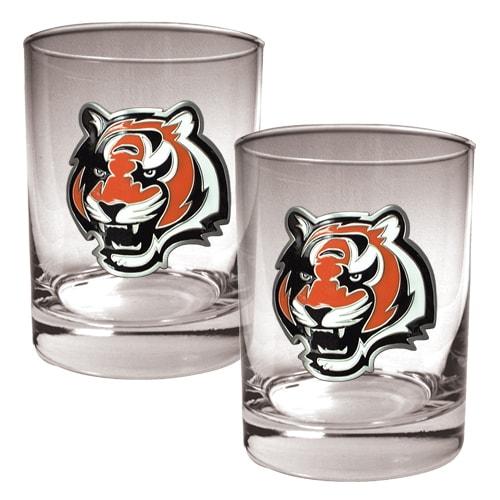 Cincinnati Bengals 14oz. Rocks Glass Set