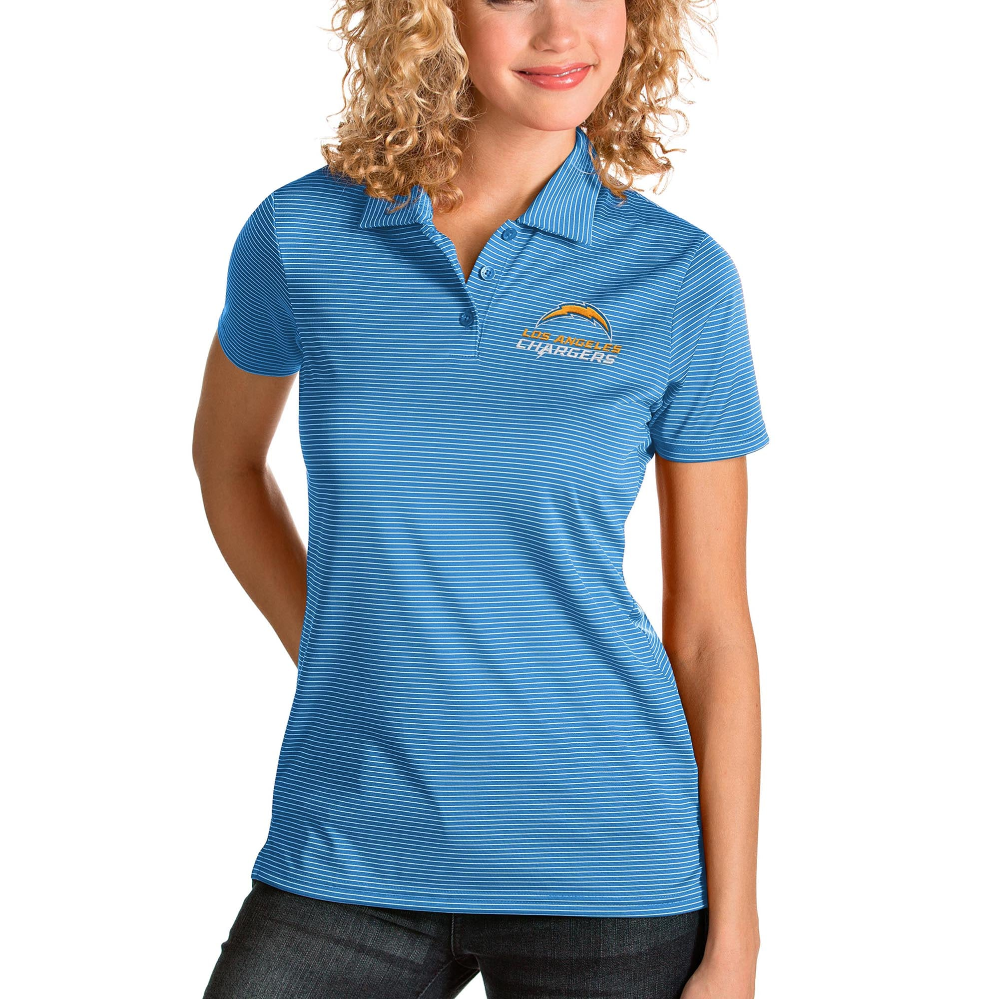 Los Angeles Chargers Antigua Women's Quest Polo - Blue