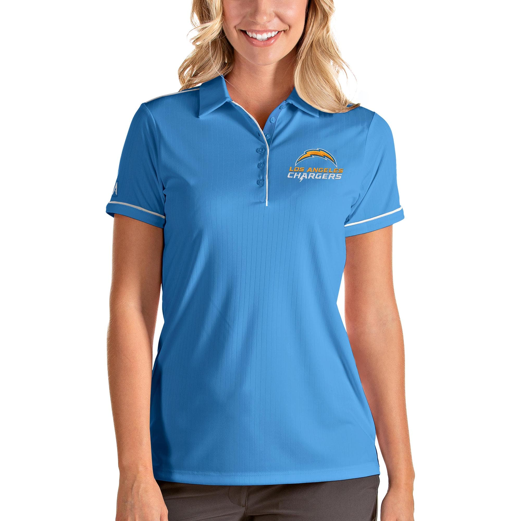 Los Angeles Chargers Antigua Women's Team Salute Polo - Blue