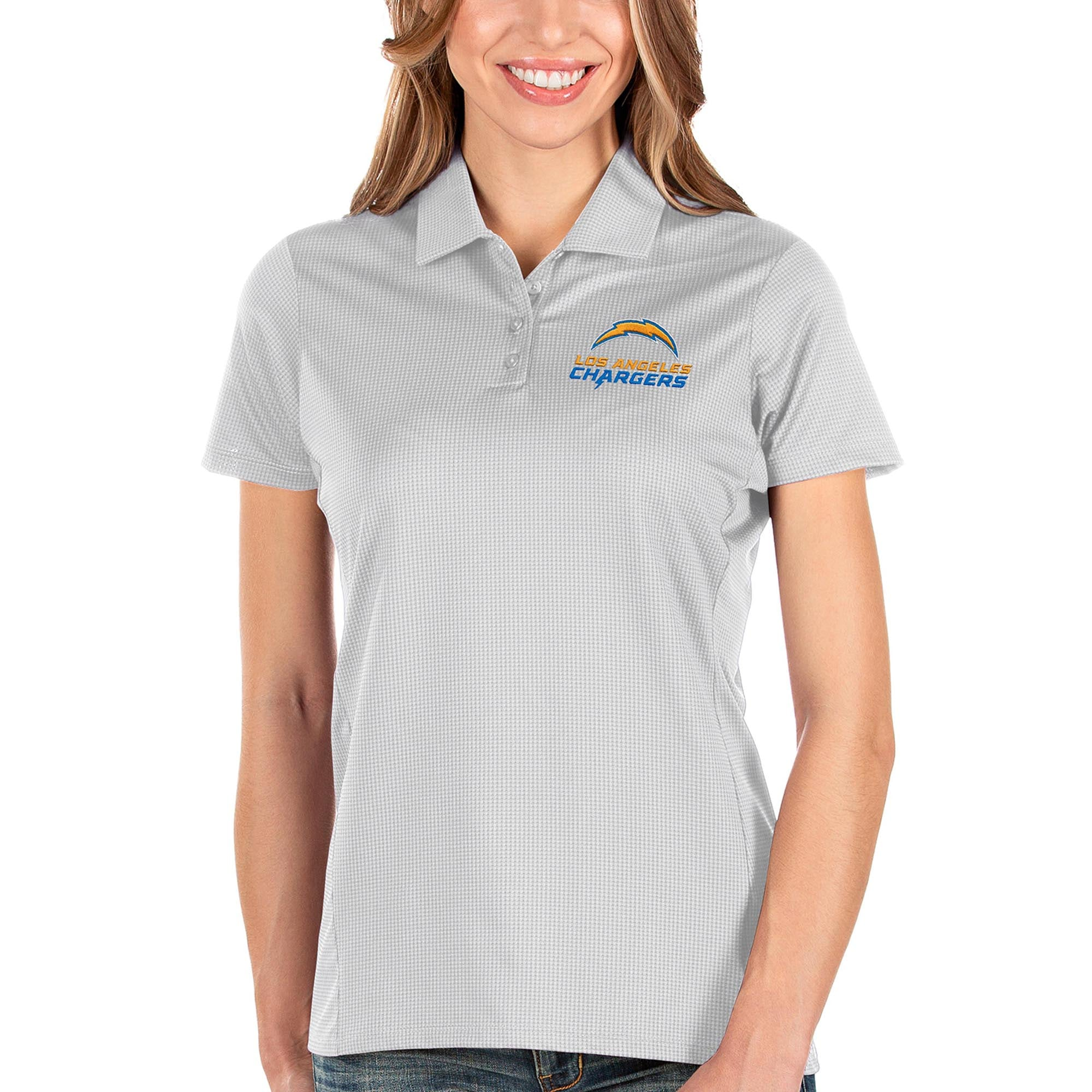 Los Angeles Chargers Antigua Women's Balance Polo - White