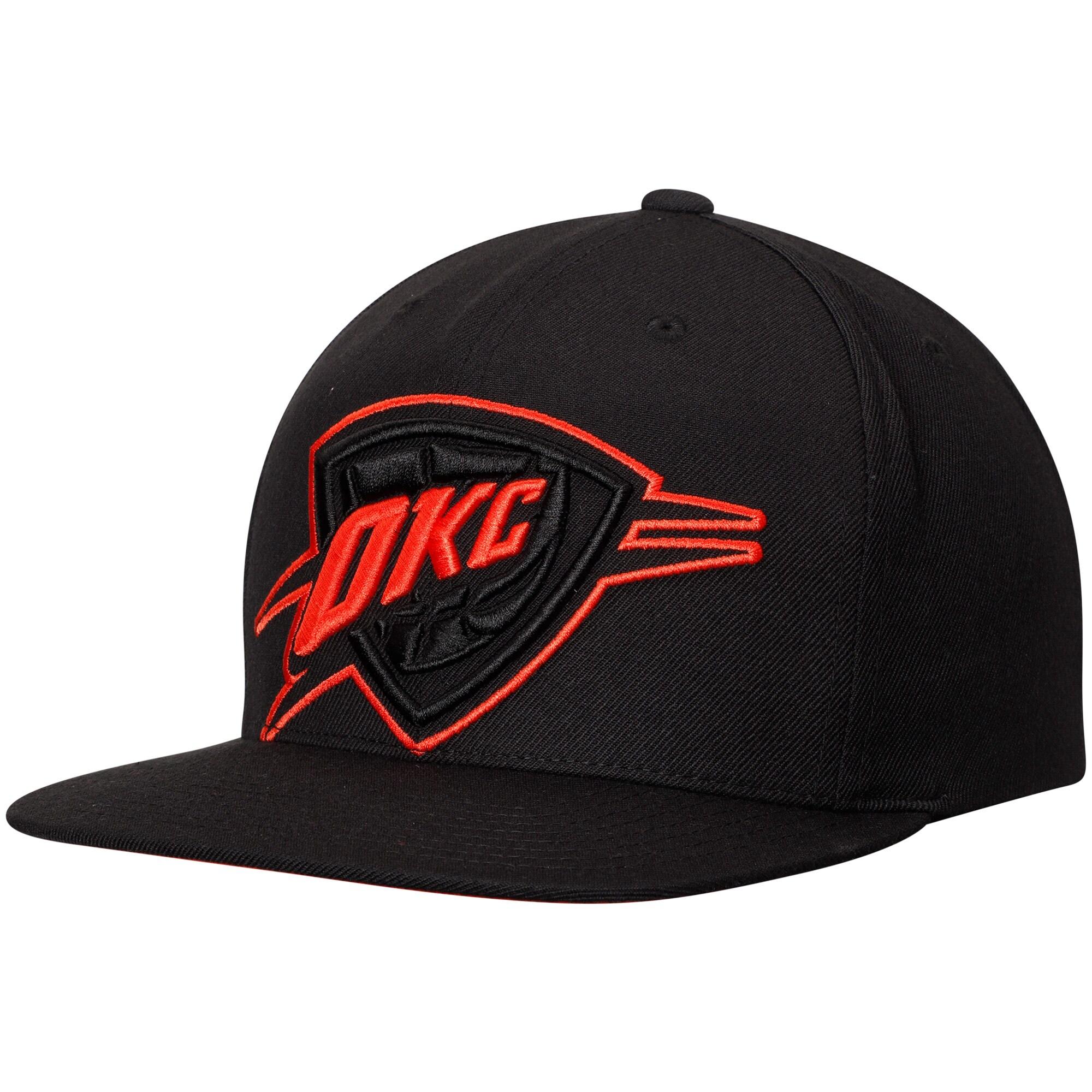 Oklahoma City Thunder Mitchell & Ness Cropped XL Adjustable Snapback Hat - Black