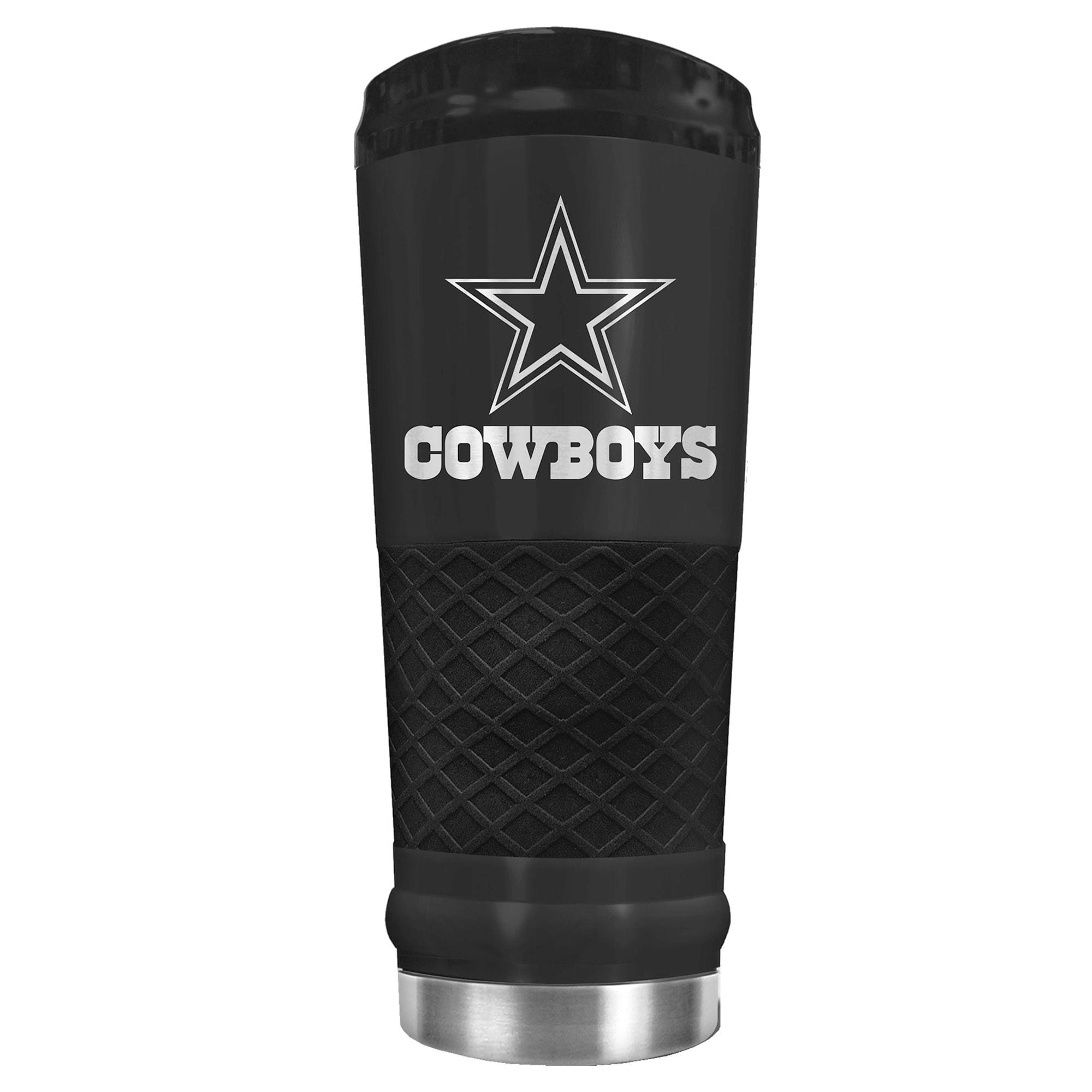 Dallas Cowboys 24oz Stealth Matte Tumbler - Black