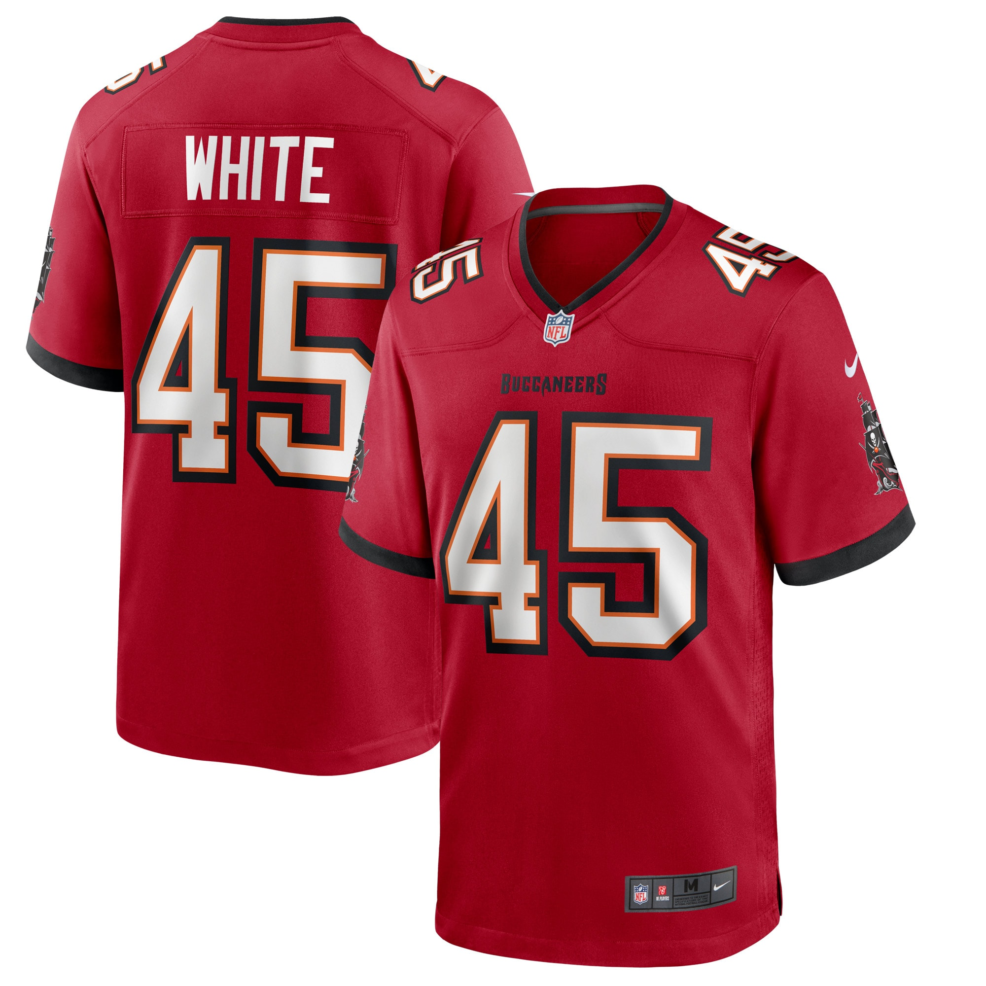 Devin White Tampa Bay Buccaneers Nike Game Player Jersey - Red