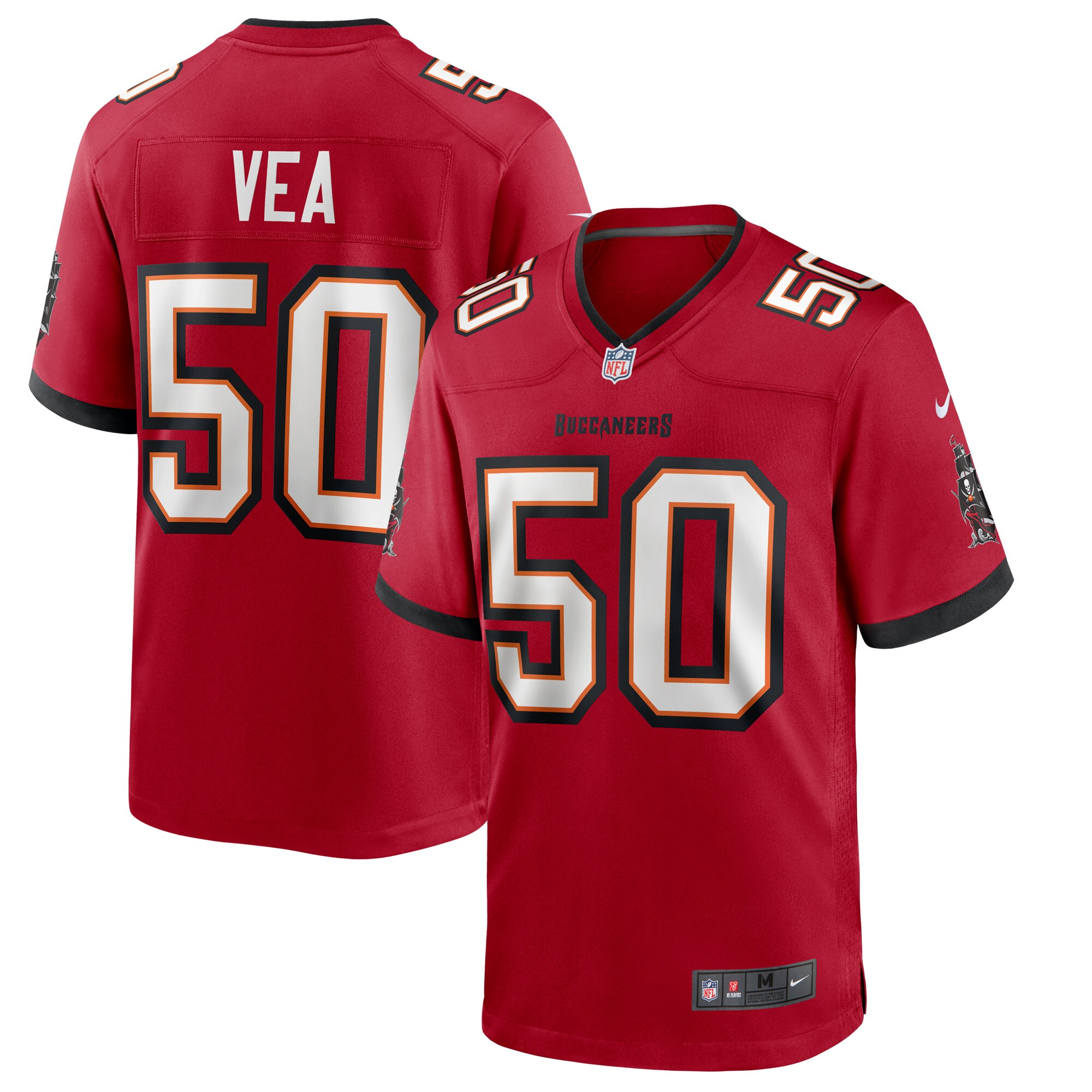 Vita Vea Tampa Bay Buccaneers Nike Game Jersey - Red