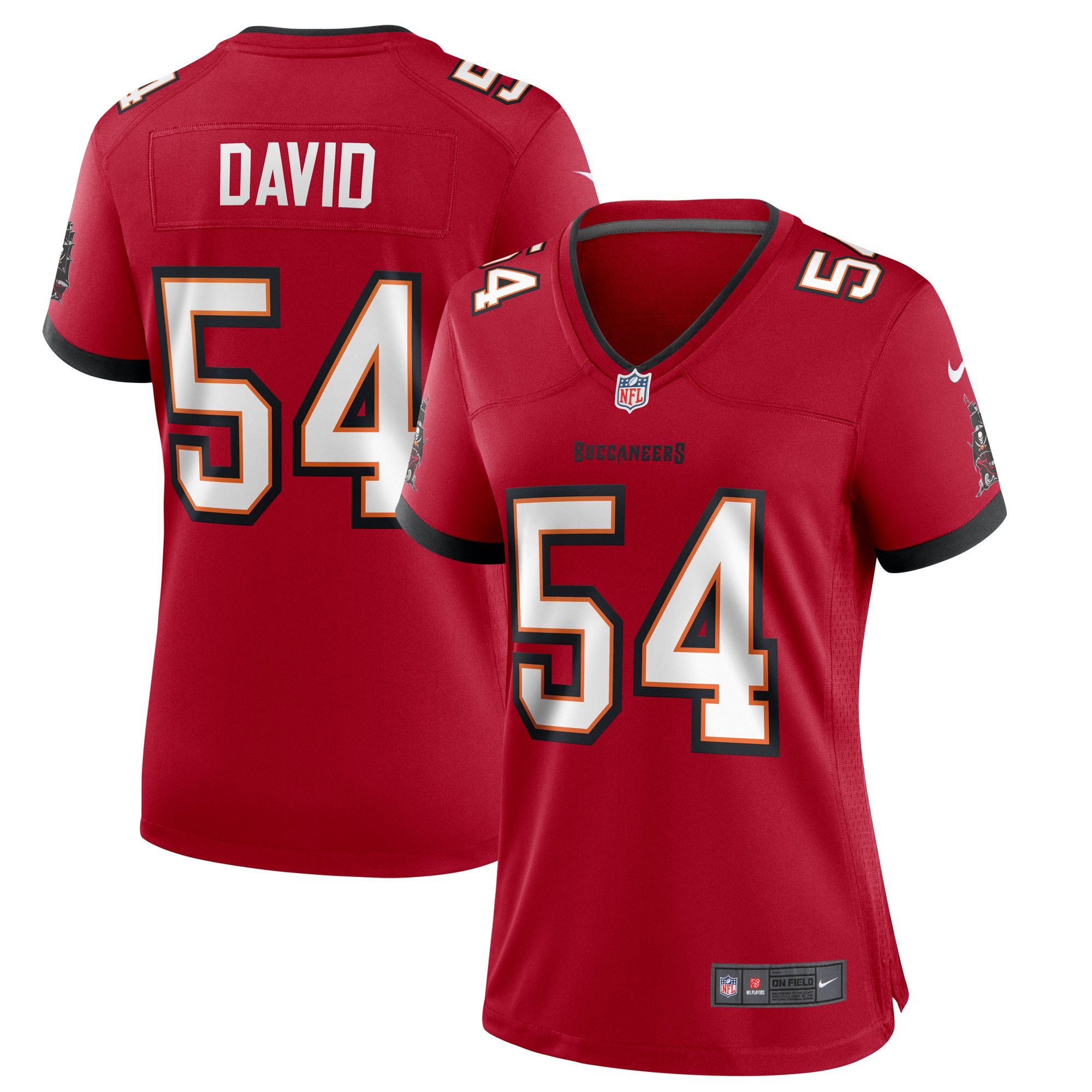 Lavonte David Tampa Bay Buccaneers Nike Women's Game Jersey - Red