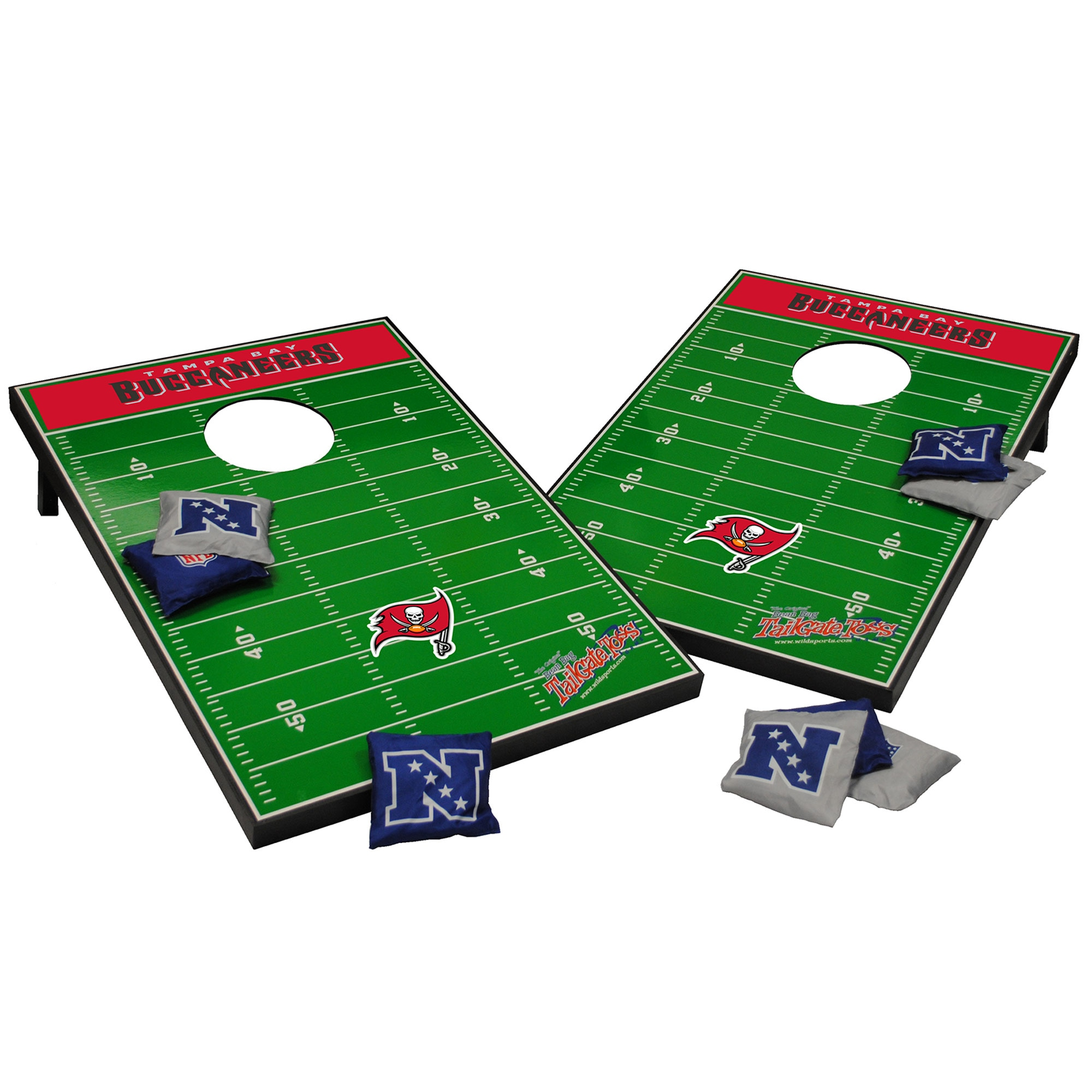 Tampa Bay Buccaneers 2' x 3' Cornhole Board Tailgate Toss Set