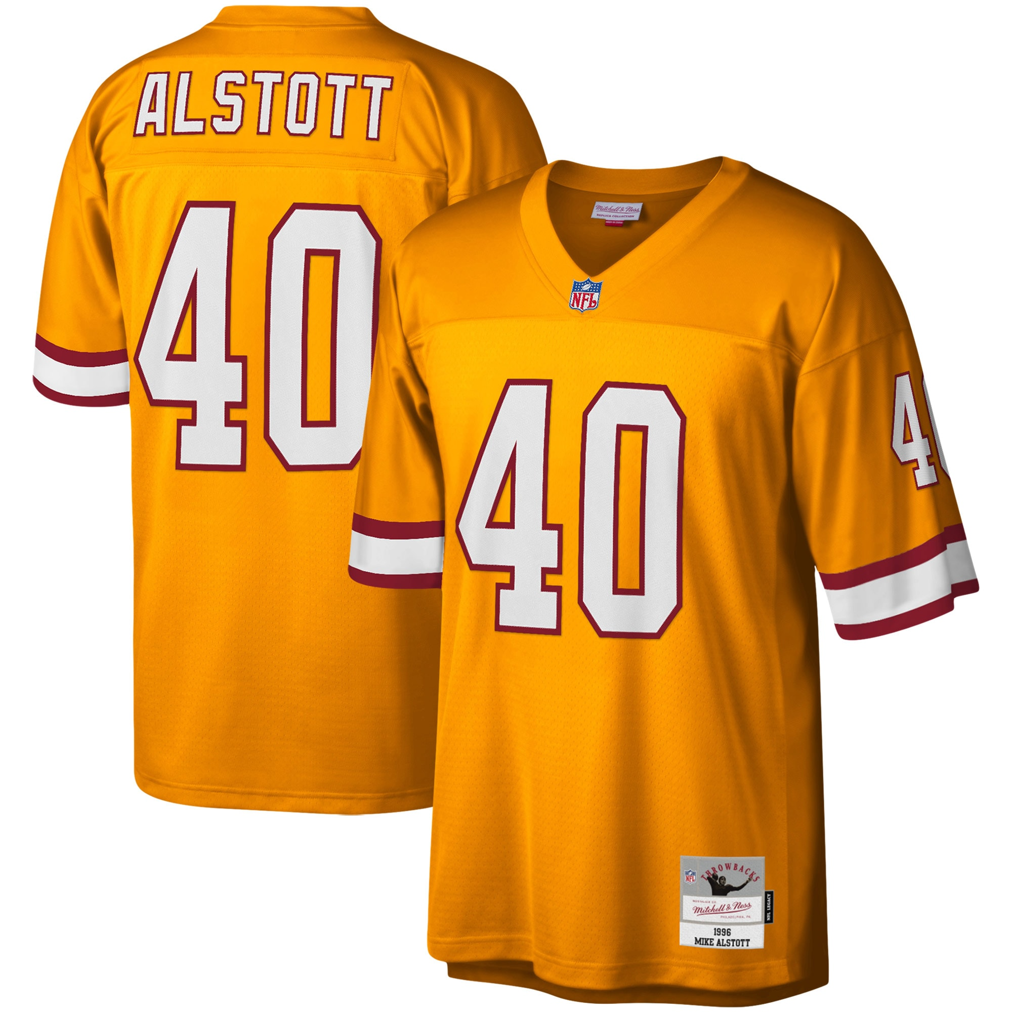 Mike Alstott Tampa Bay Buccaneers Mitchell & Ness Legacy Replica Jersey - Orange