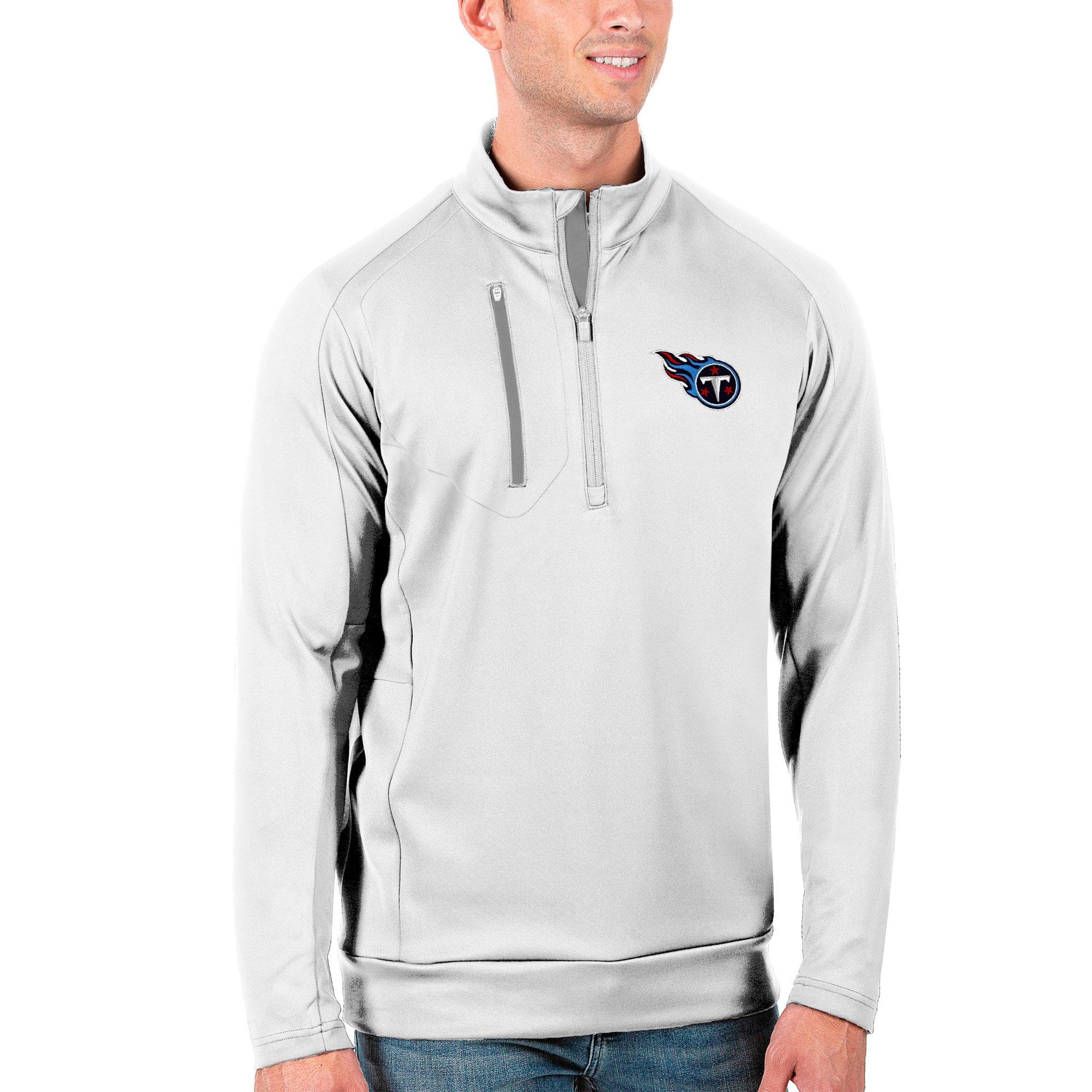 Tennessee Titans Antigua Generation Quarter-Zip Pullover Jacket - White/Silver