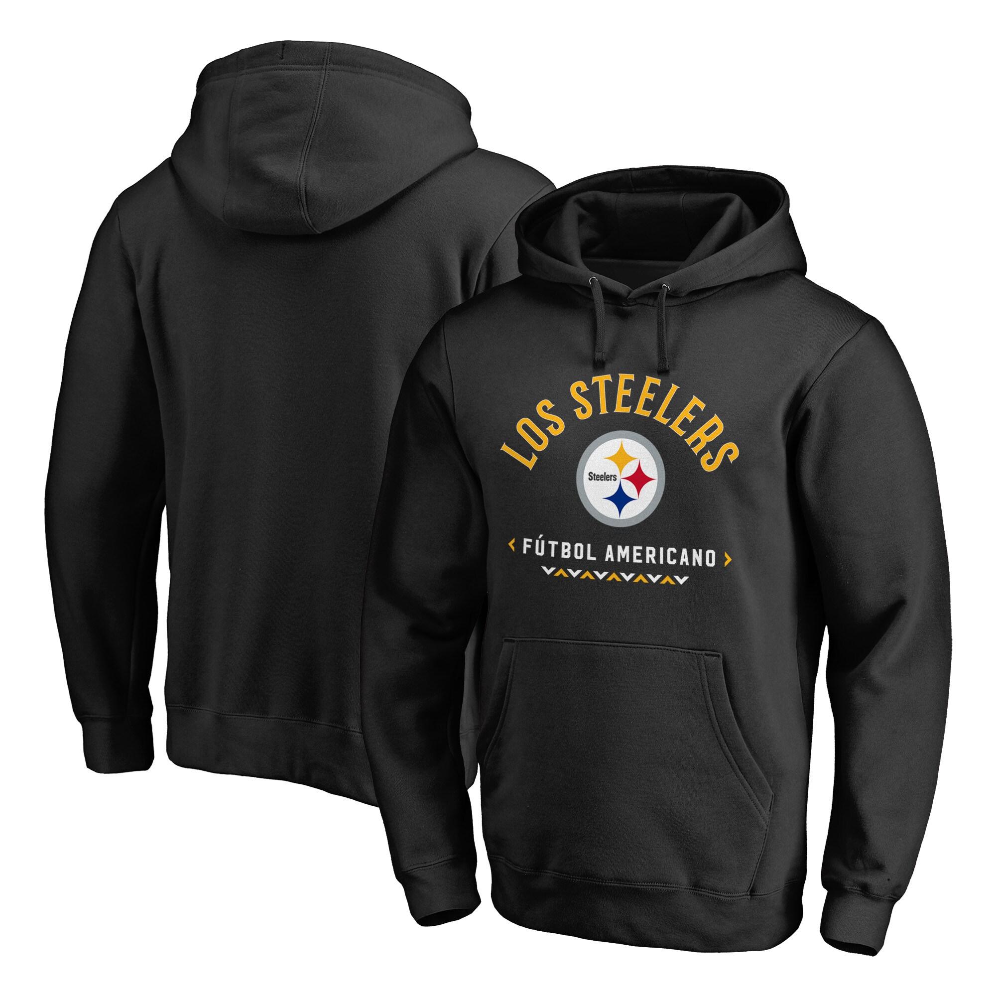 Pittsburgh Steelers NFL Pro Line by Fanatics Branded Futbol Americano Pullover Hoodie - Black