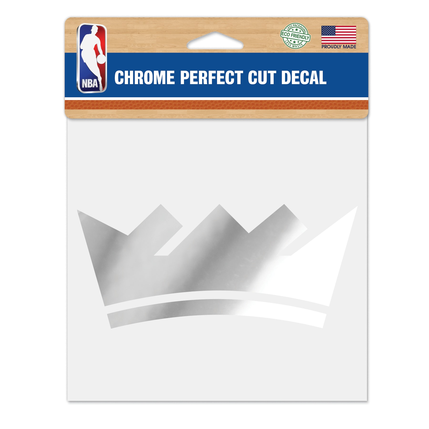 "Sacramento Kings WinCraft 6"" x 6"" Chrome Decal"