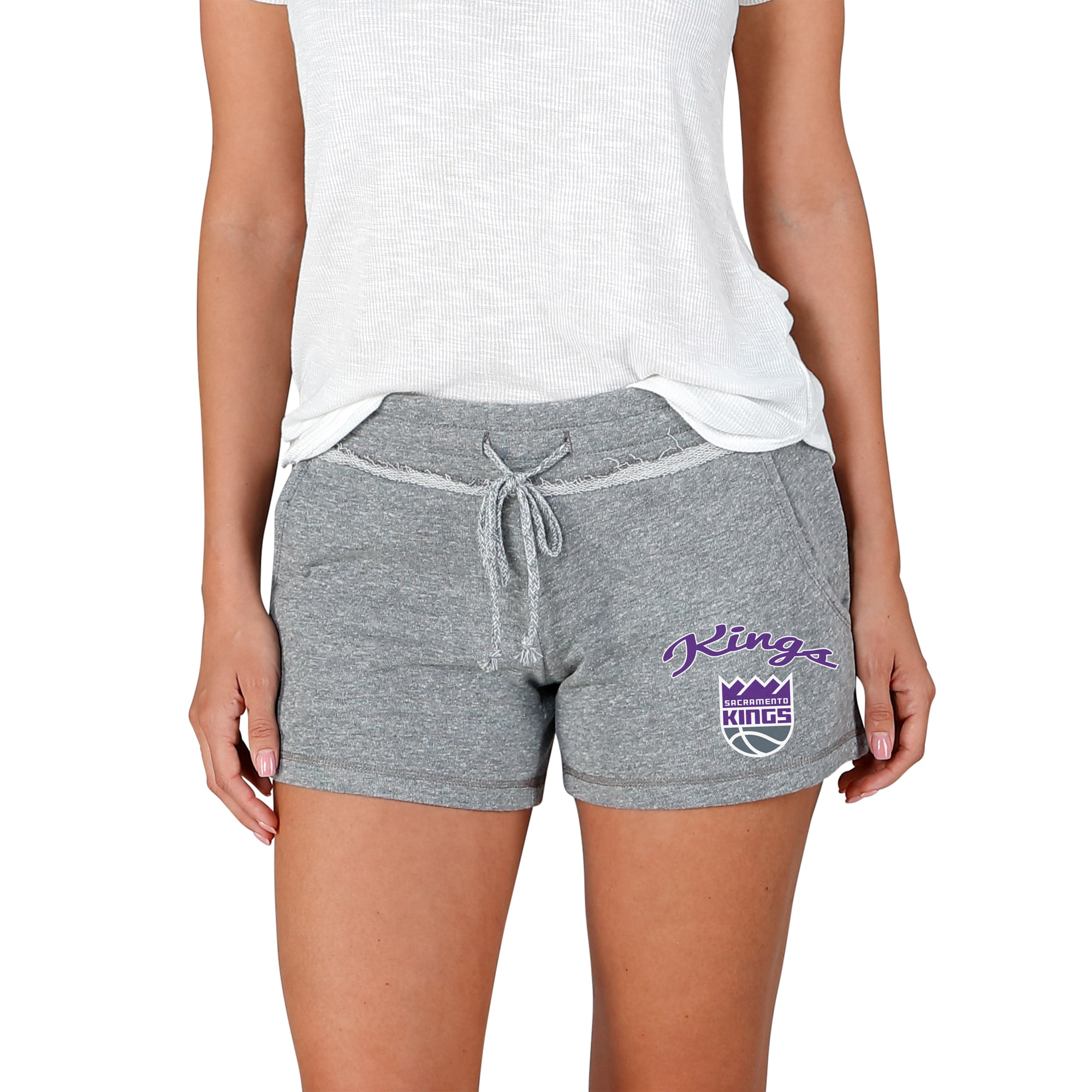 Sacramento Kings Concepts Sport Women's Mainstream Terry Shorts - Gray