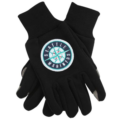 Seattle Mariners McArthur Team Logo Touch Gloves - Black