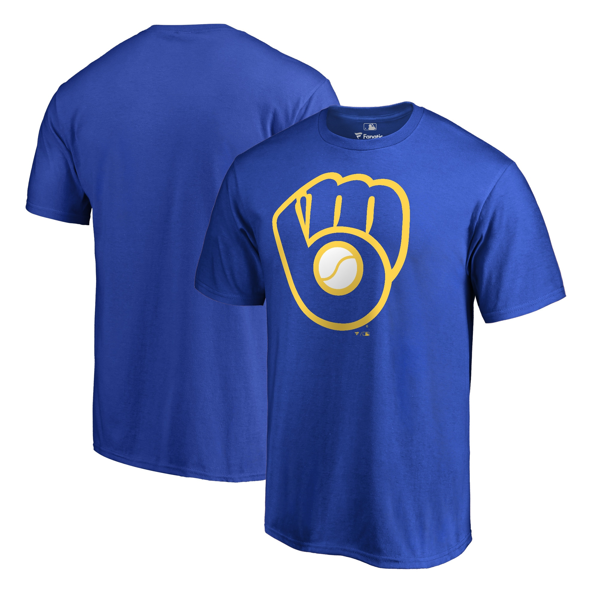 Milwaukee Brewers Fanatics Branded Big & Tall Cooperstown Collection Huntington Team T-Shirt - Royal