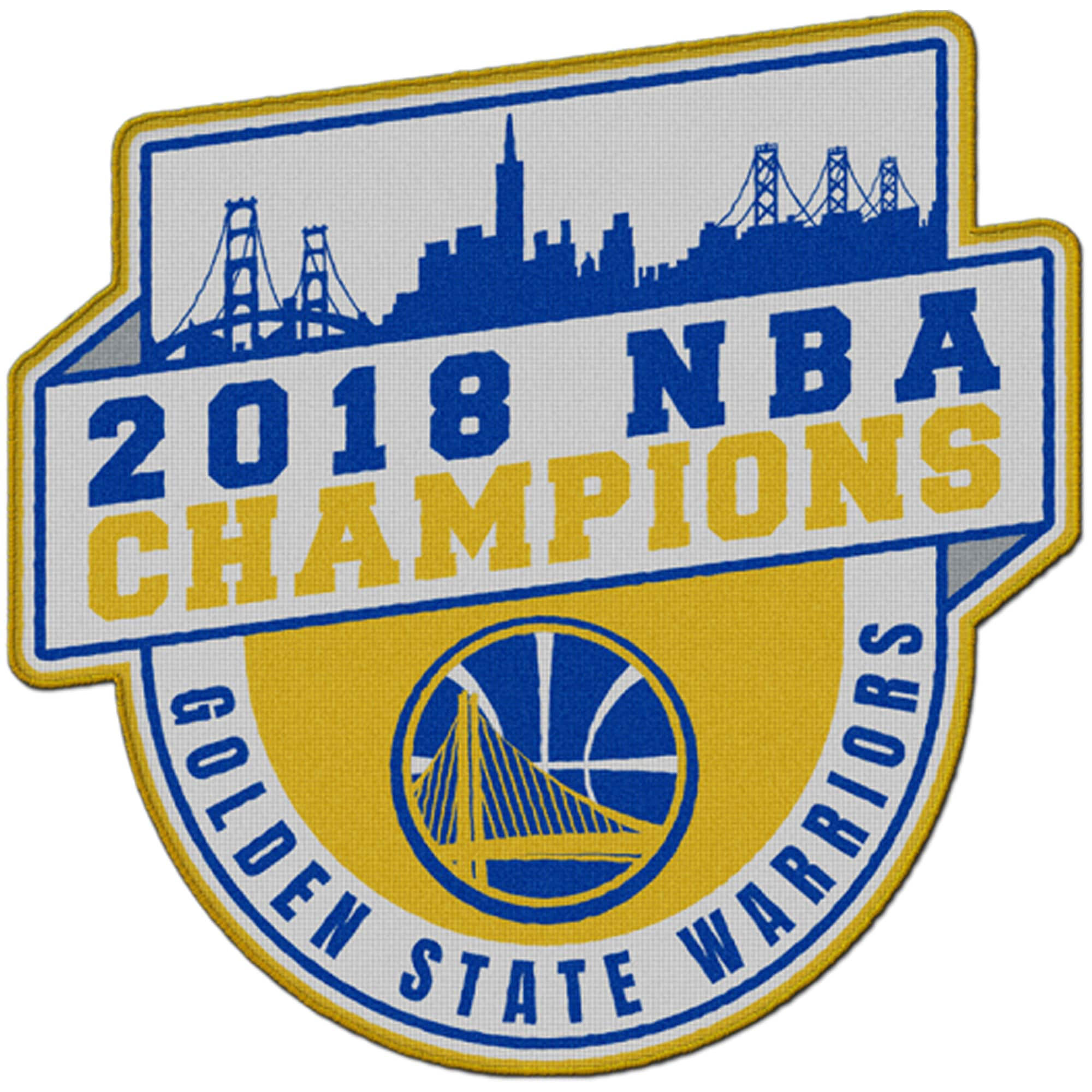 Golden State Warriors 2018 NBA Finals Champions Run the Table Fan Patch
