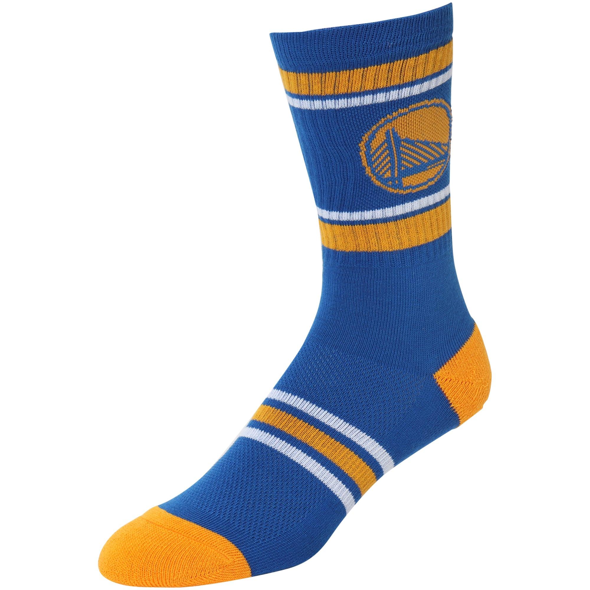 Golden State Warriors Stripe Crew Socks - Royal