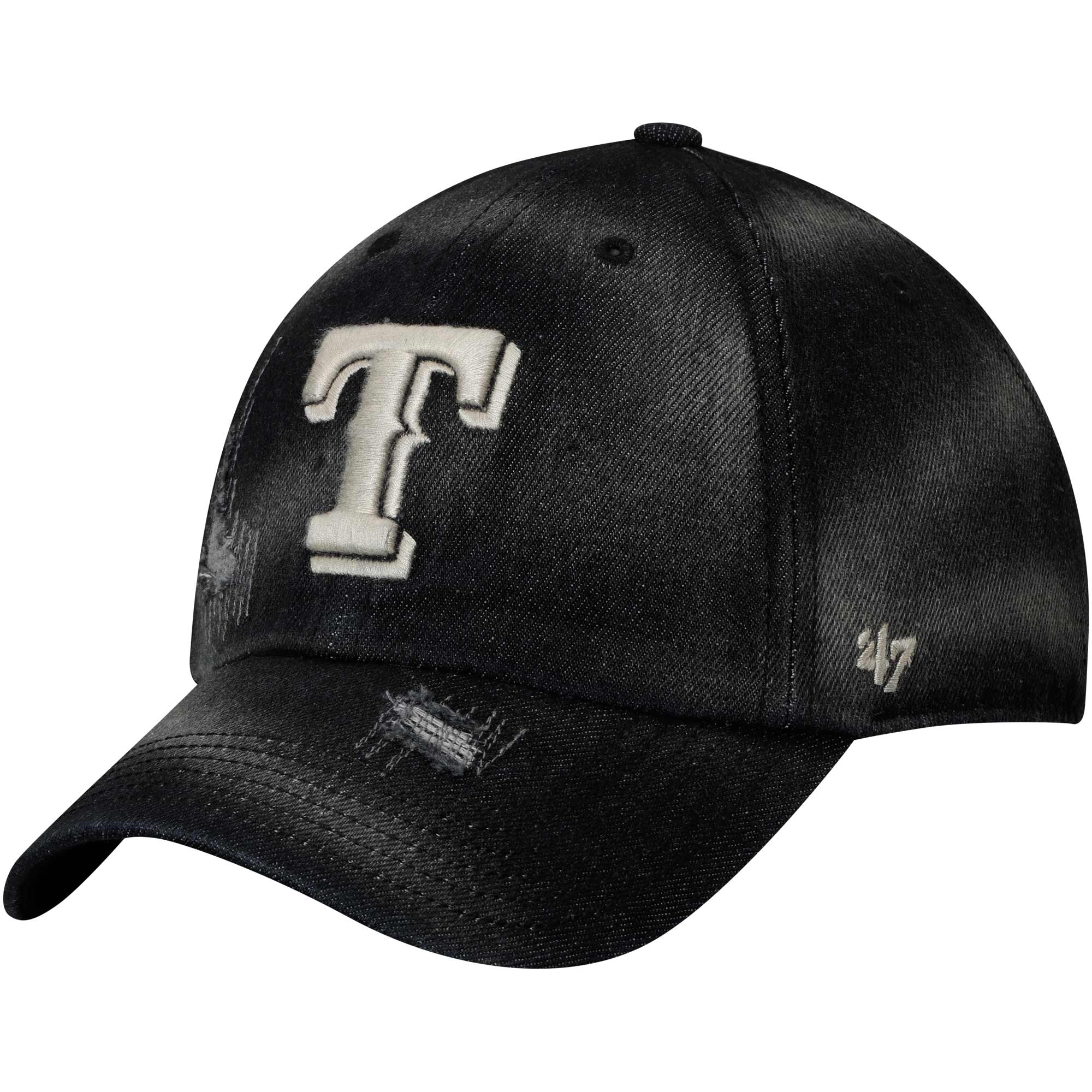 Texas Rangers '47 Loughlin Clean Up Adjustable Hat - Black