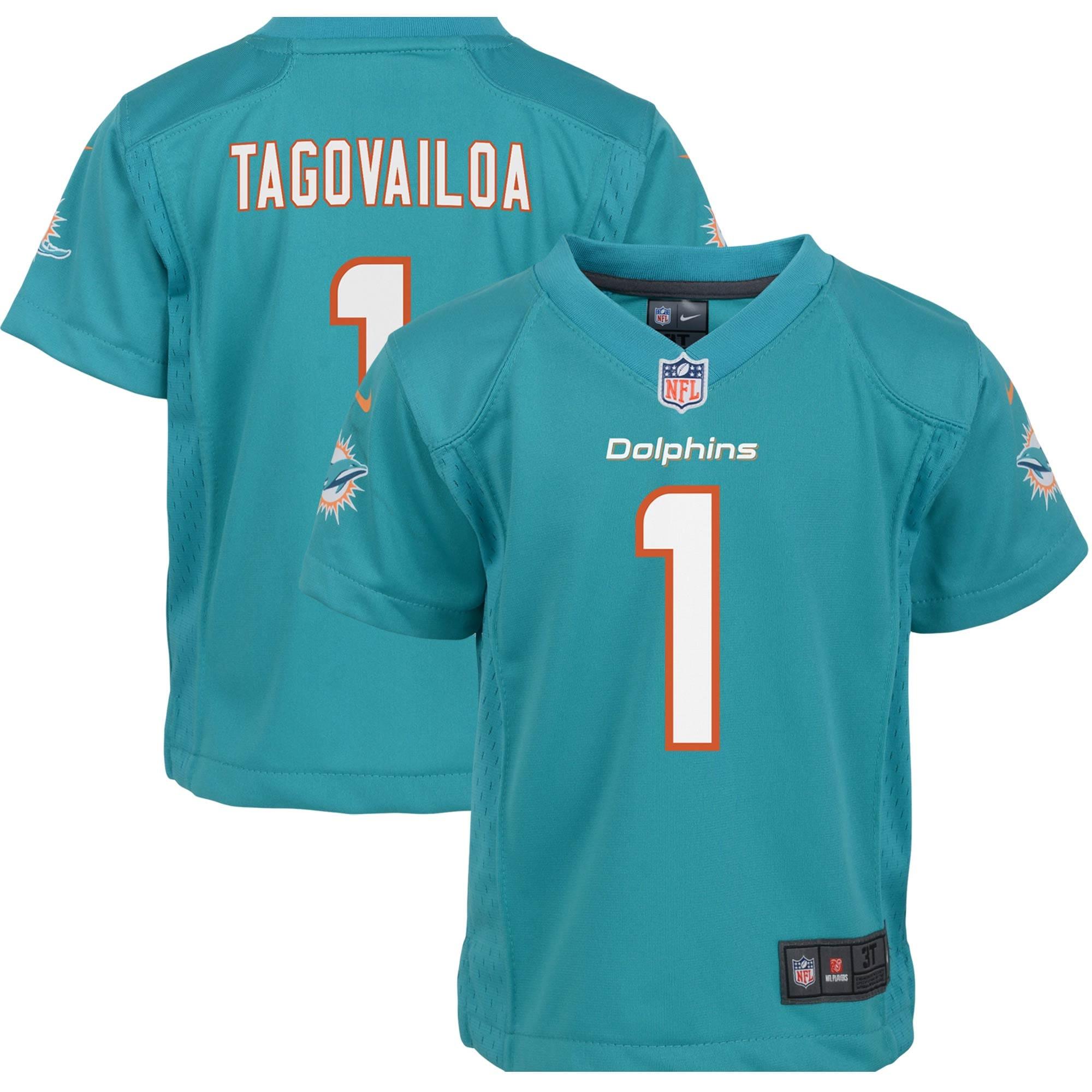 Tua Tagovailoa Miami Dolphins Nike Preschool Game Jersey - Aqua