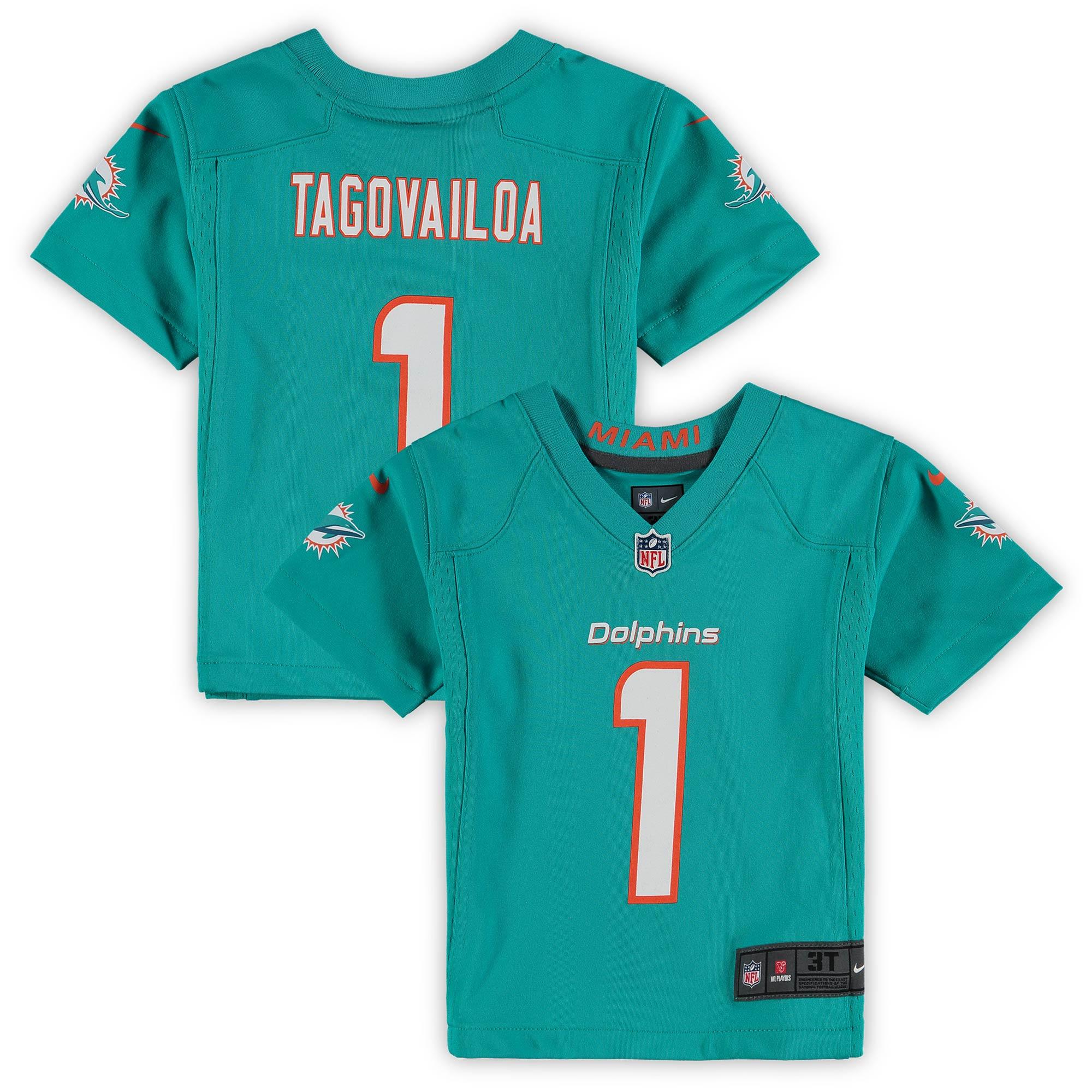 Tua Tagovailoa Miami Dolphins Nike Toddler Game Jersey - Aqua