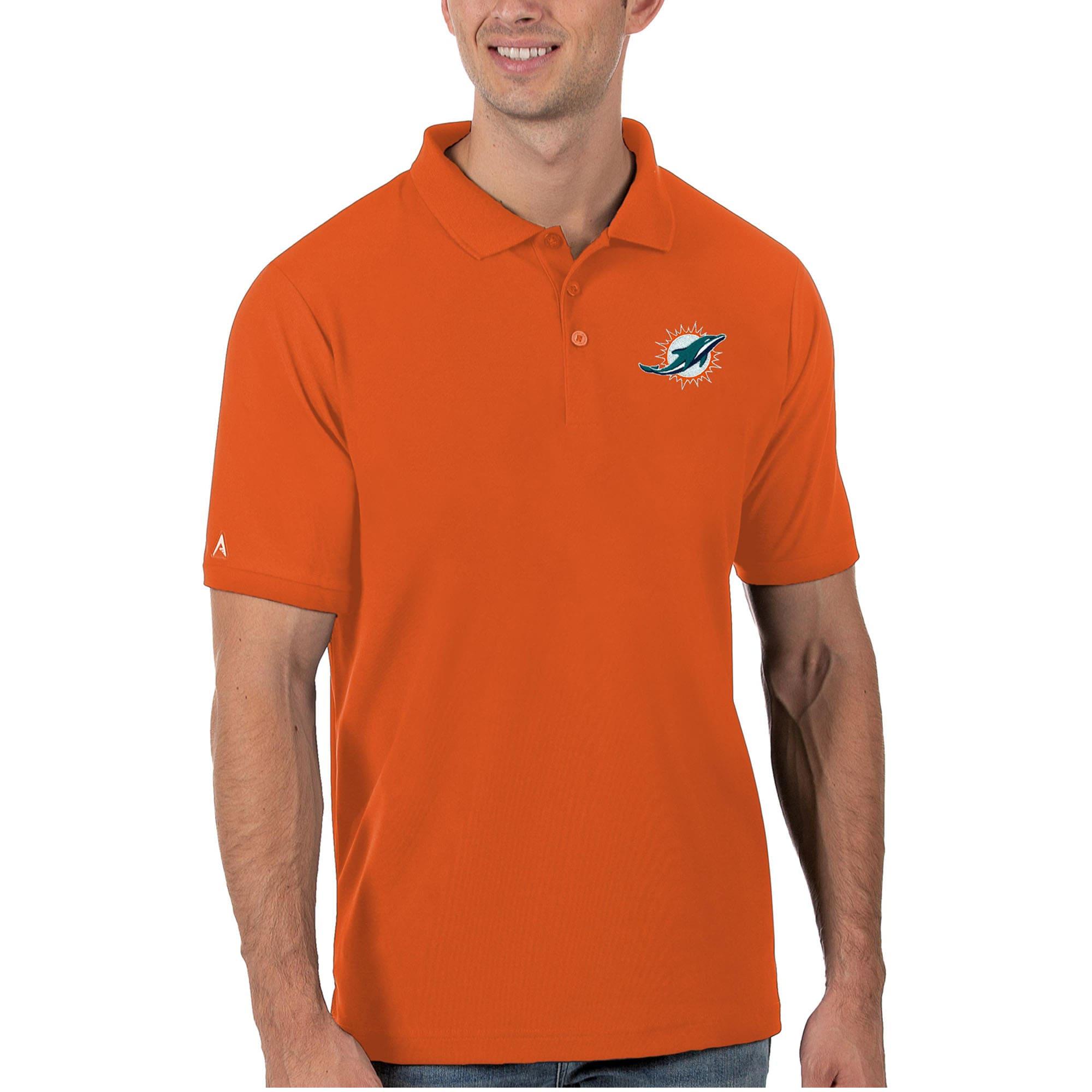 Miami Dolphins Antigua Legacy Pique Polo - Orange