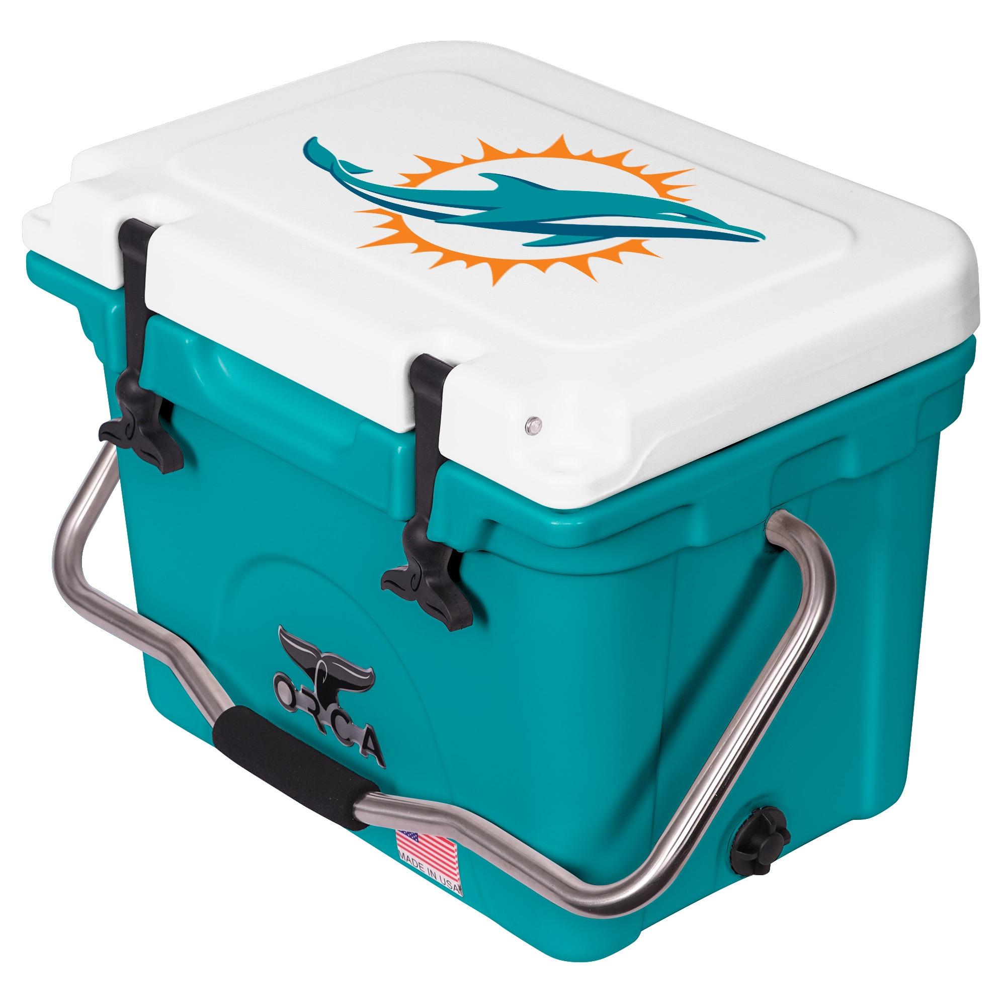 Miami Dolphins ORCA 20-Quart Hard-Sided Cooler - Aqua/White