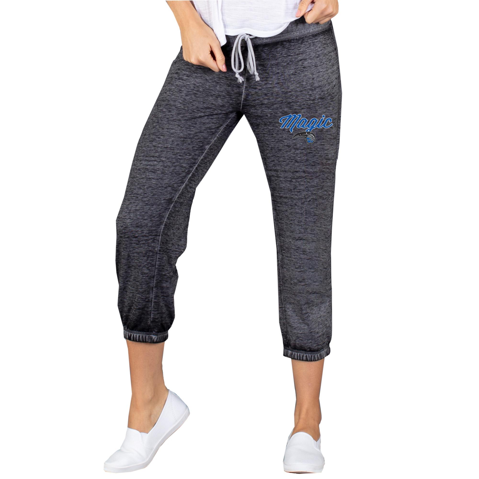 Orlando Magic Concepts Sport Women's Capri Knit Lounge Pants - Charcoal