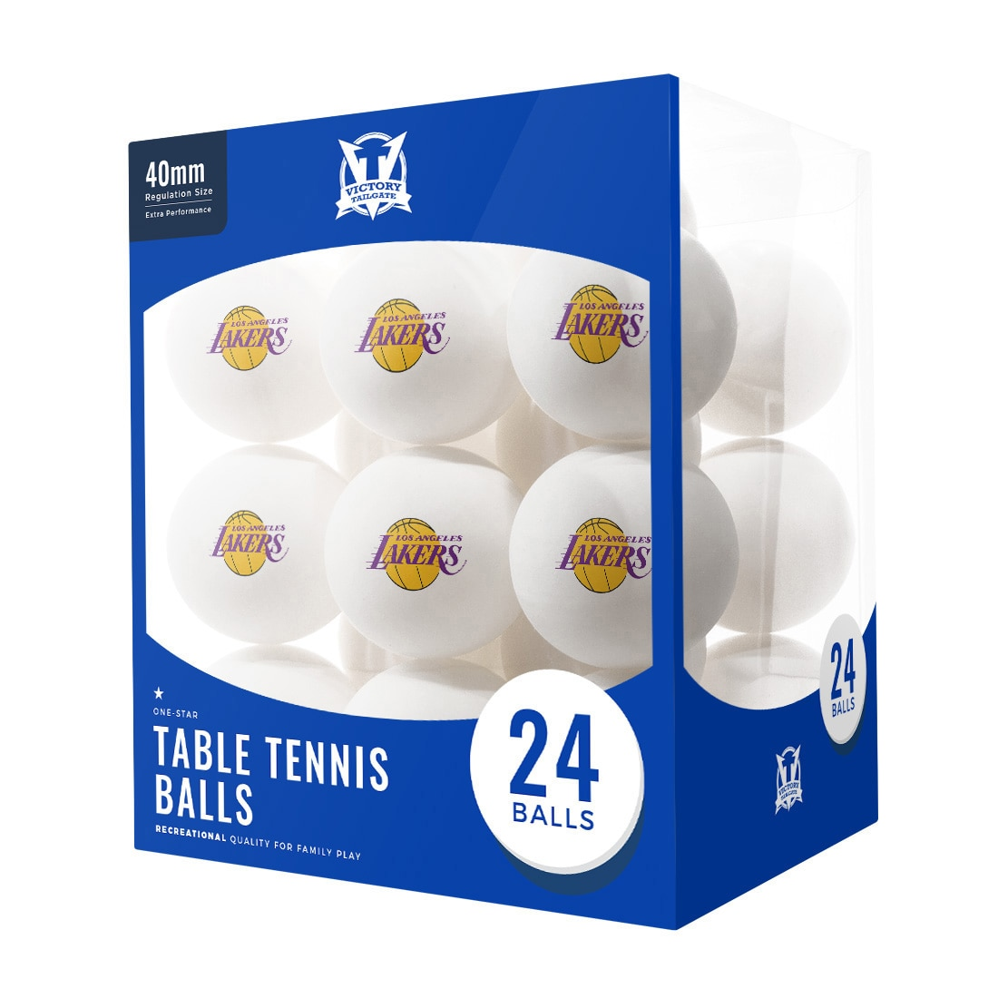 Los Angeles Lakers 24-Count Logo Table Tennis Balls