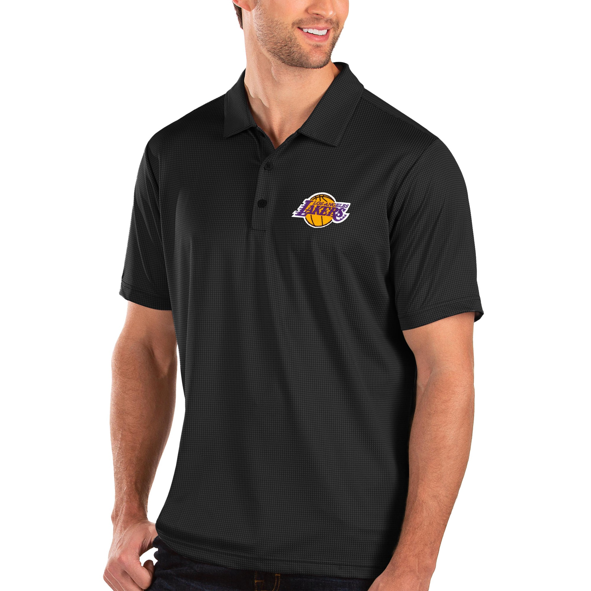 Los Angeles Lakers Antigua Balance Polo - Black