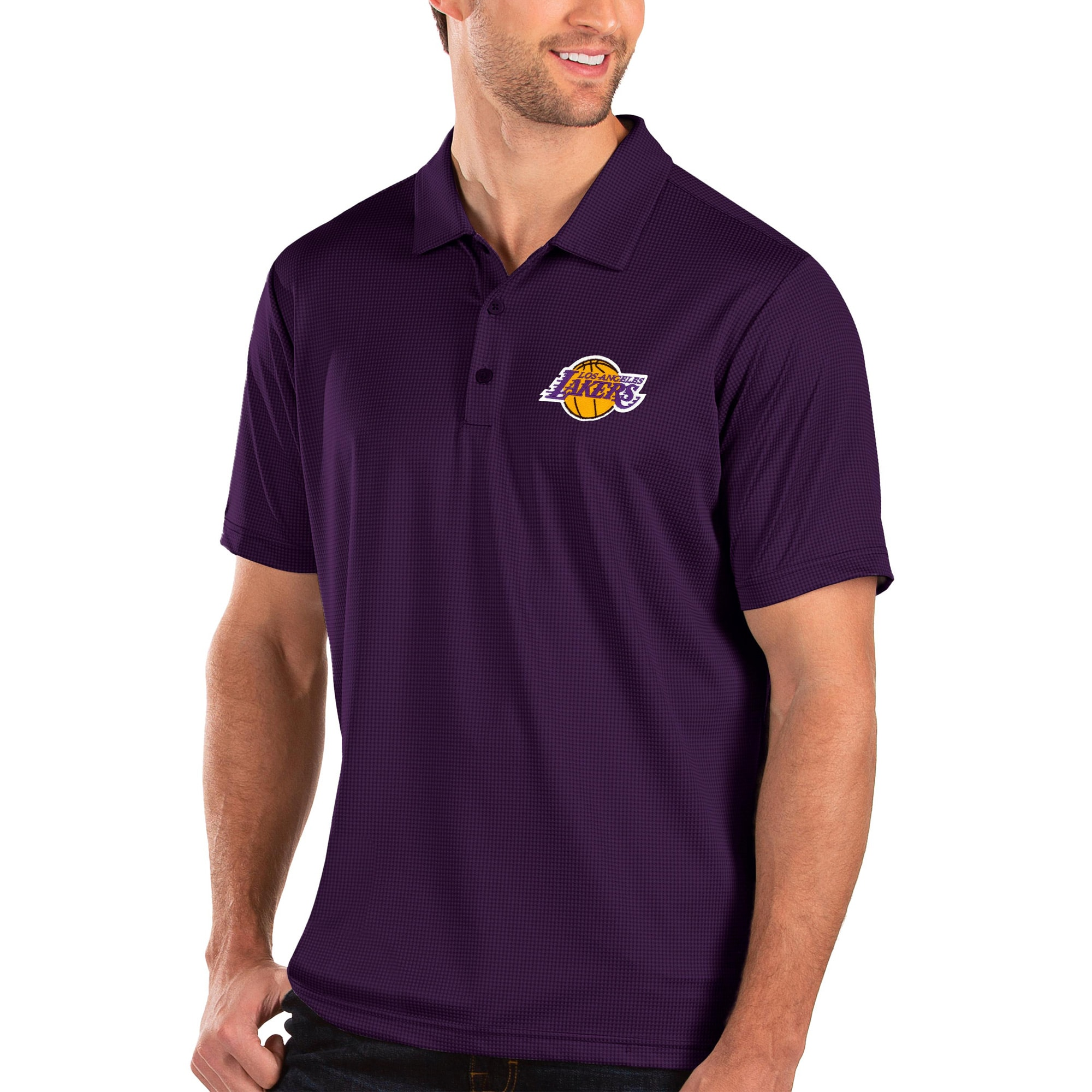 Los Angeles Lakers Antigua Balance Polo - Purple