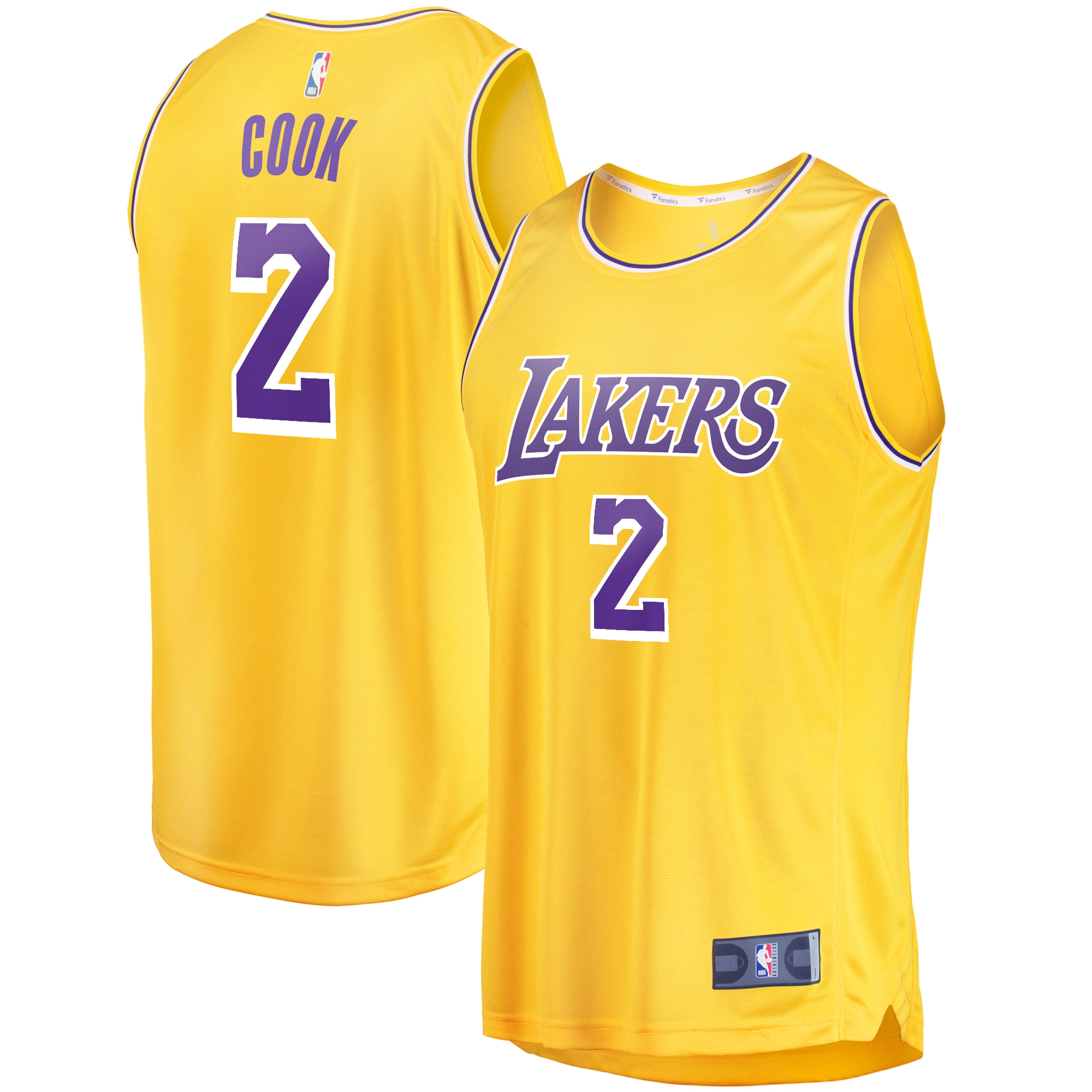 Quinn Cook Los Angeles Lakers Fanatics Branded Fast Break Replica Player Jersey - Icon Edition - Yellow