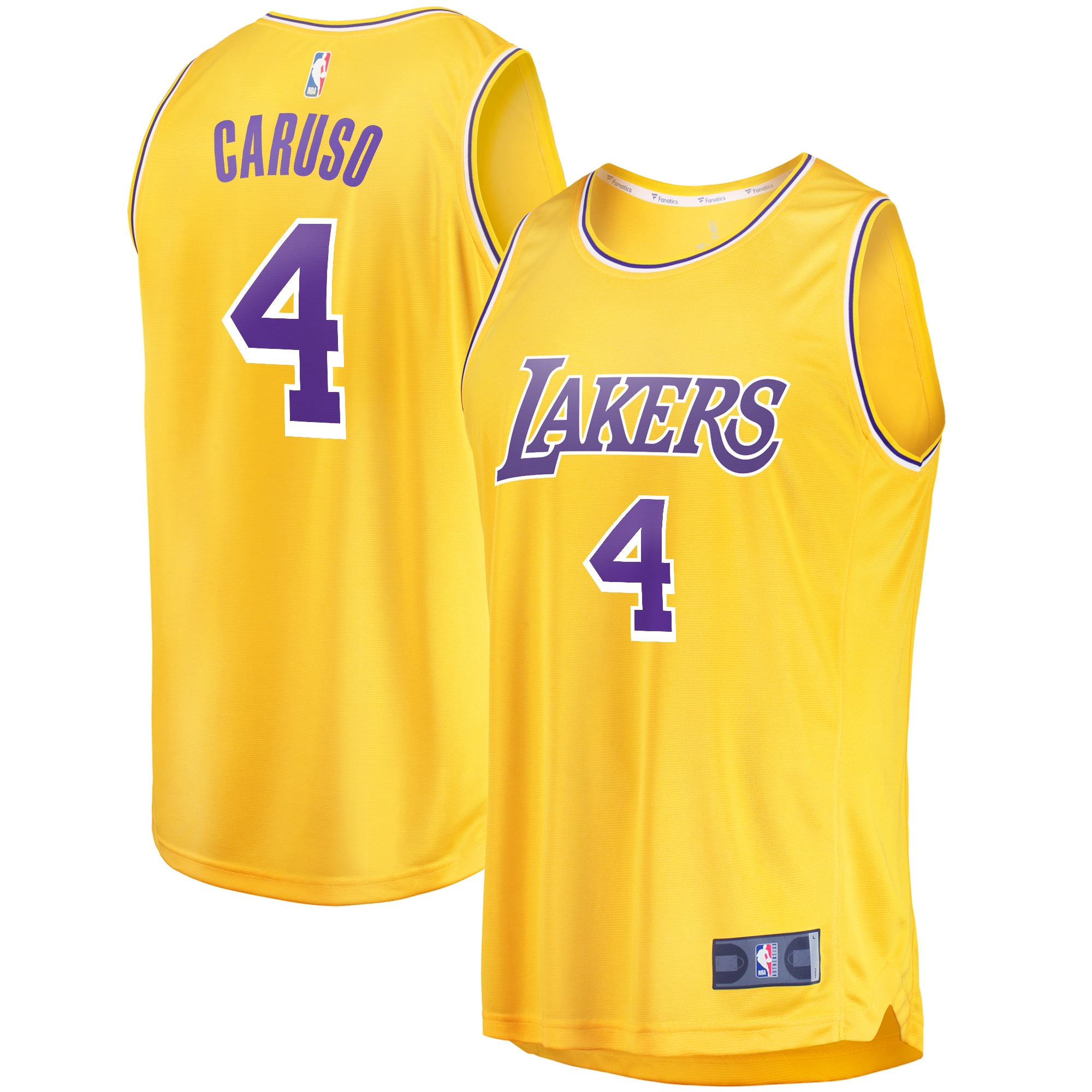 Alex Caruso Los Angeles Lakers Fanatics Branded Youth Fast Break Replica Player Jersey - Icon Edition - Gold