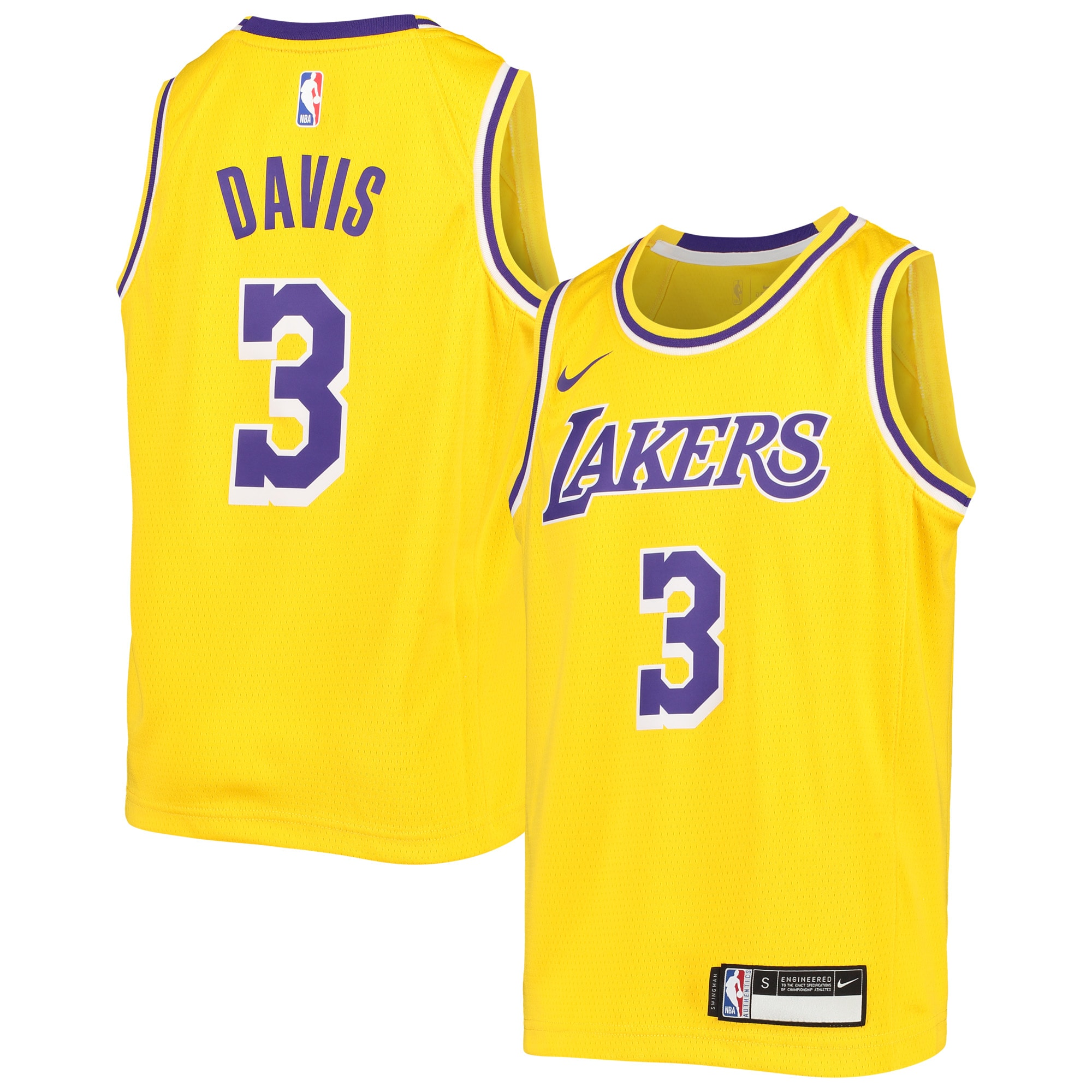 Anthony Davis Los Angeles Lakers Nike Youth Swingman Jersey - Icon Edition - Gold