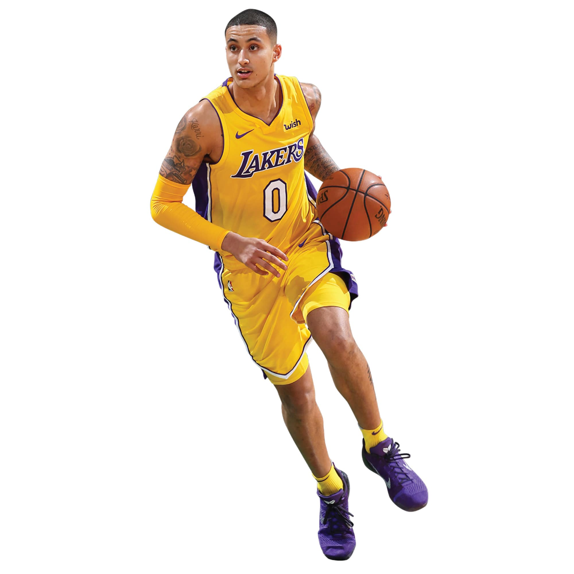 Kyle Kuzma Los Angeles Lakers Fathead Life-Size Removable Wall Decal